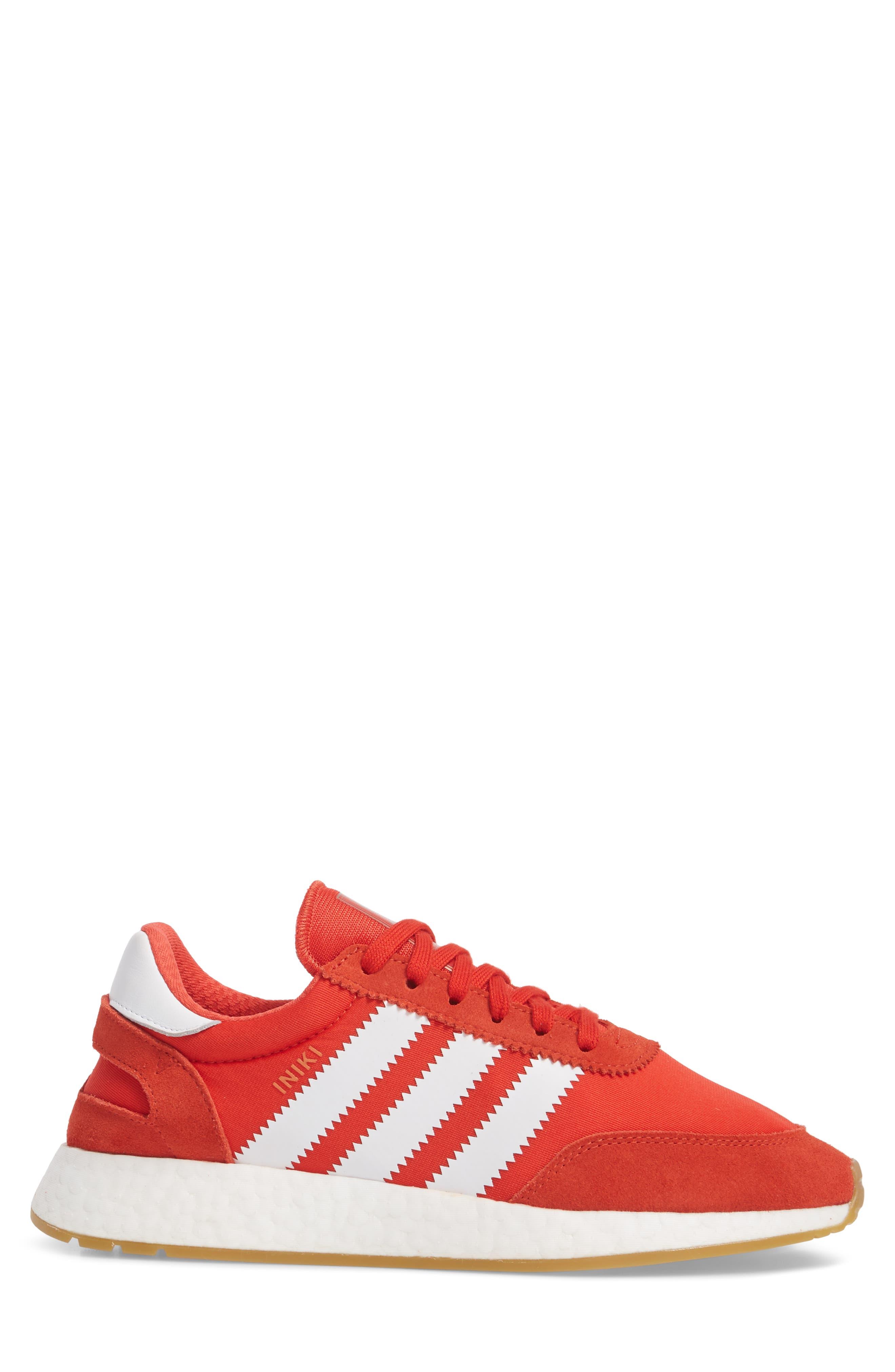 Iniki Running Shoe,                             Alternate thumbnail 3, color,                             Red/ White/ Gum