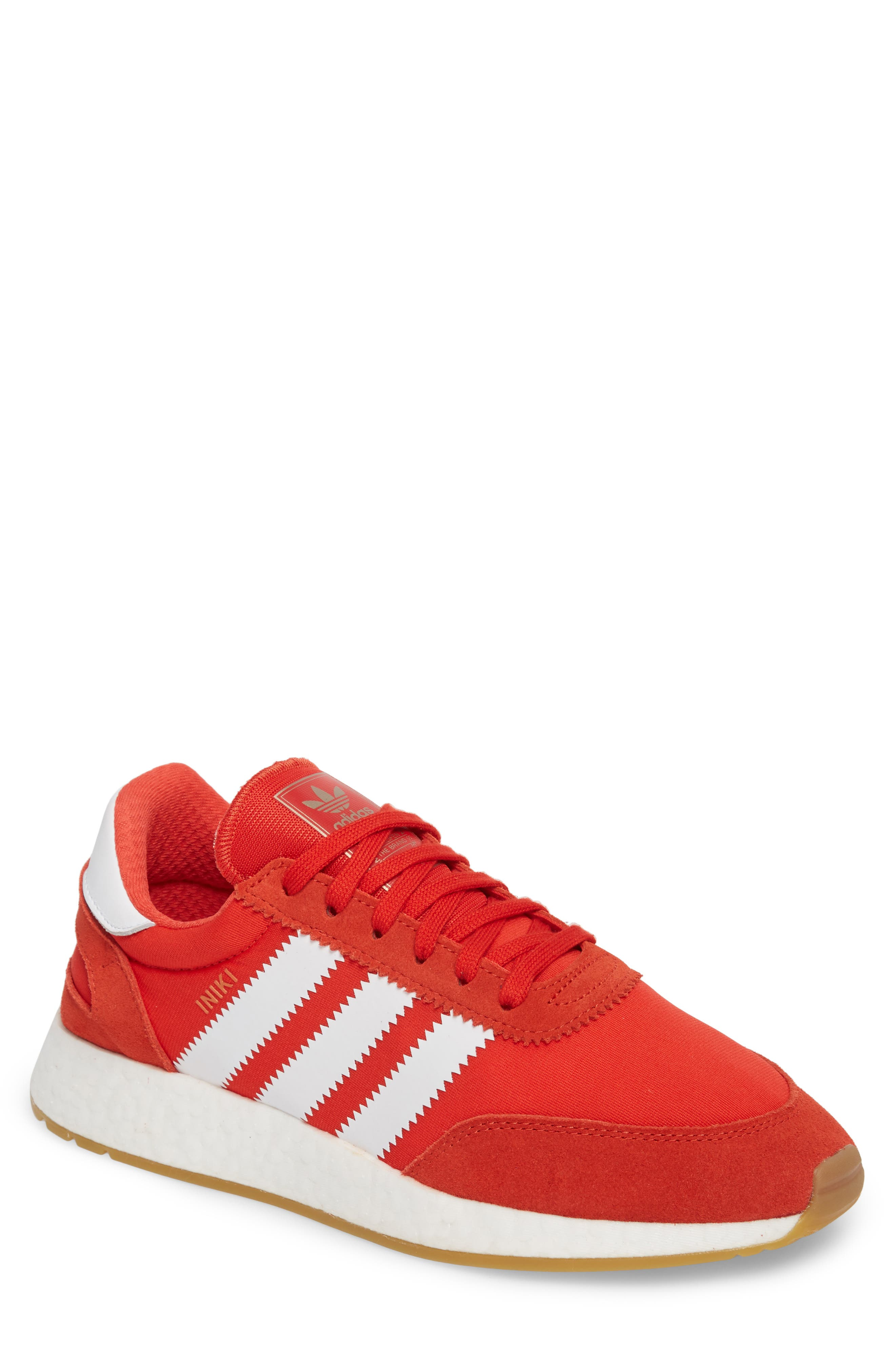 Iniki Running Shoe,                             Main thumbnail 1, color,                             Red/ White/ Gum
