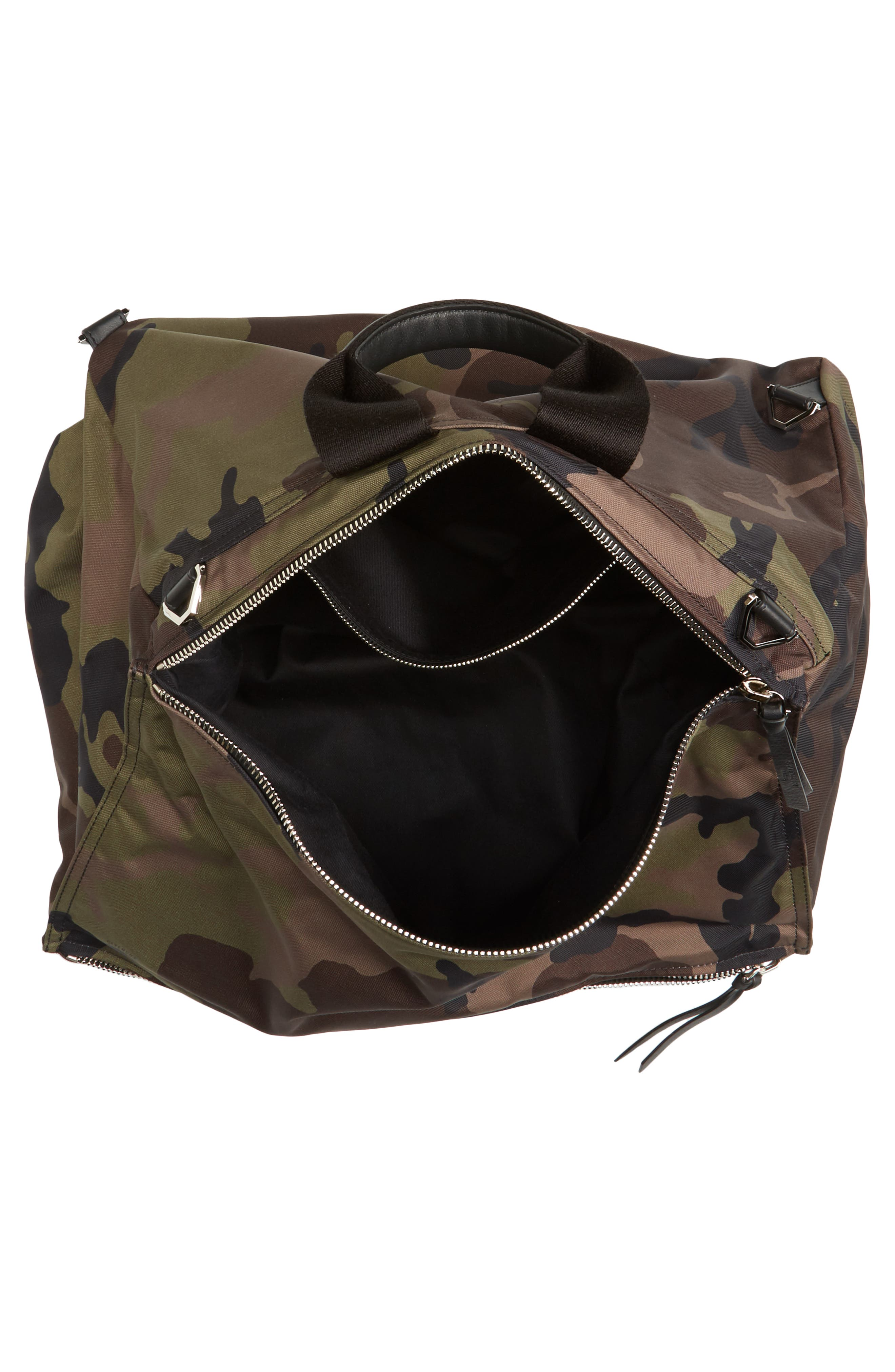 Pandora Camo Convertible Backpack,                             Alternate thumbnail 4, color,                             Multicolored
