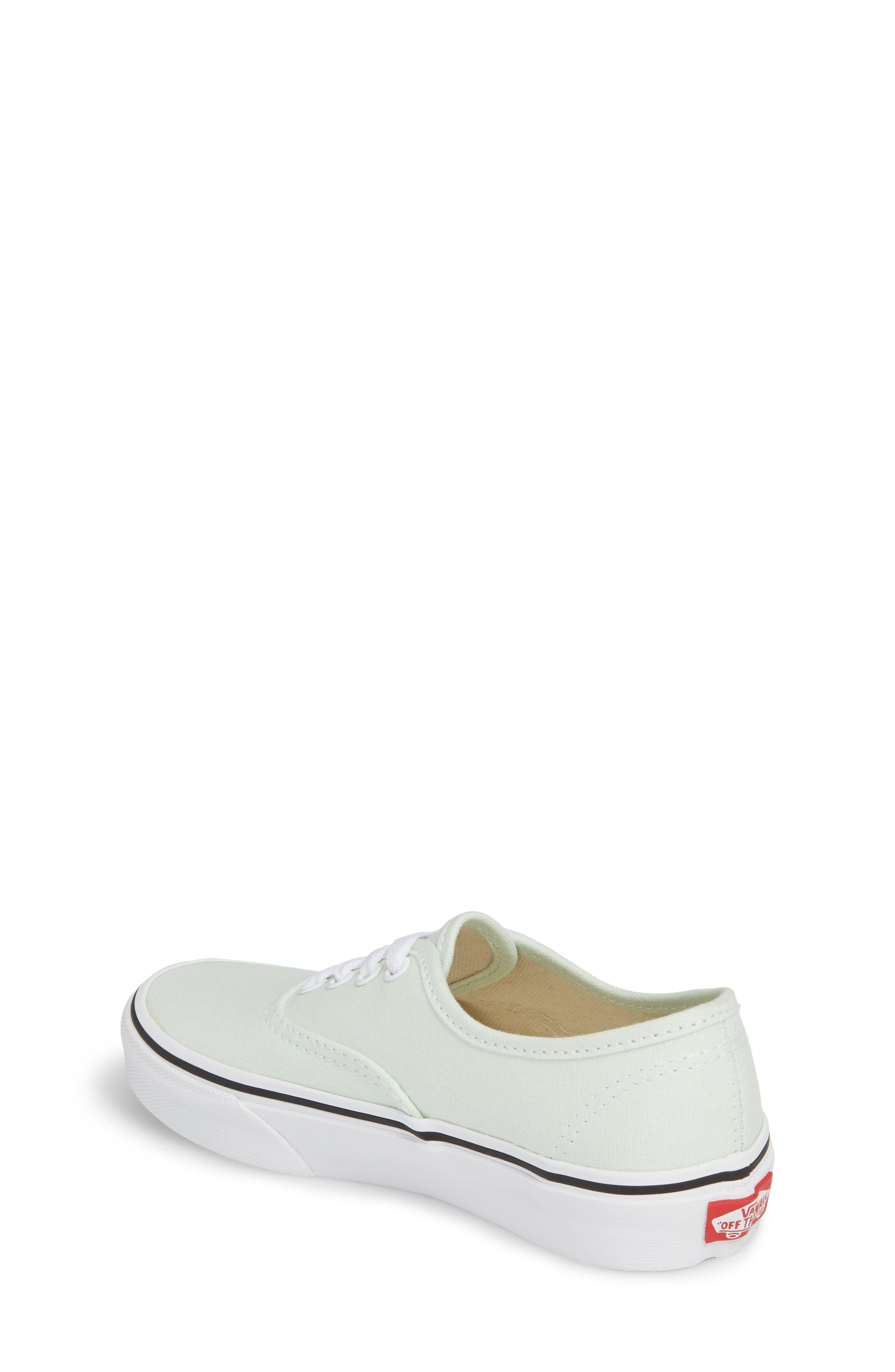 Authentic Sneaker,                             Alternate thumbnail 2, color,                             Aqua Glass/ True White