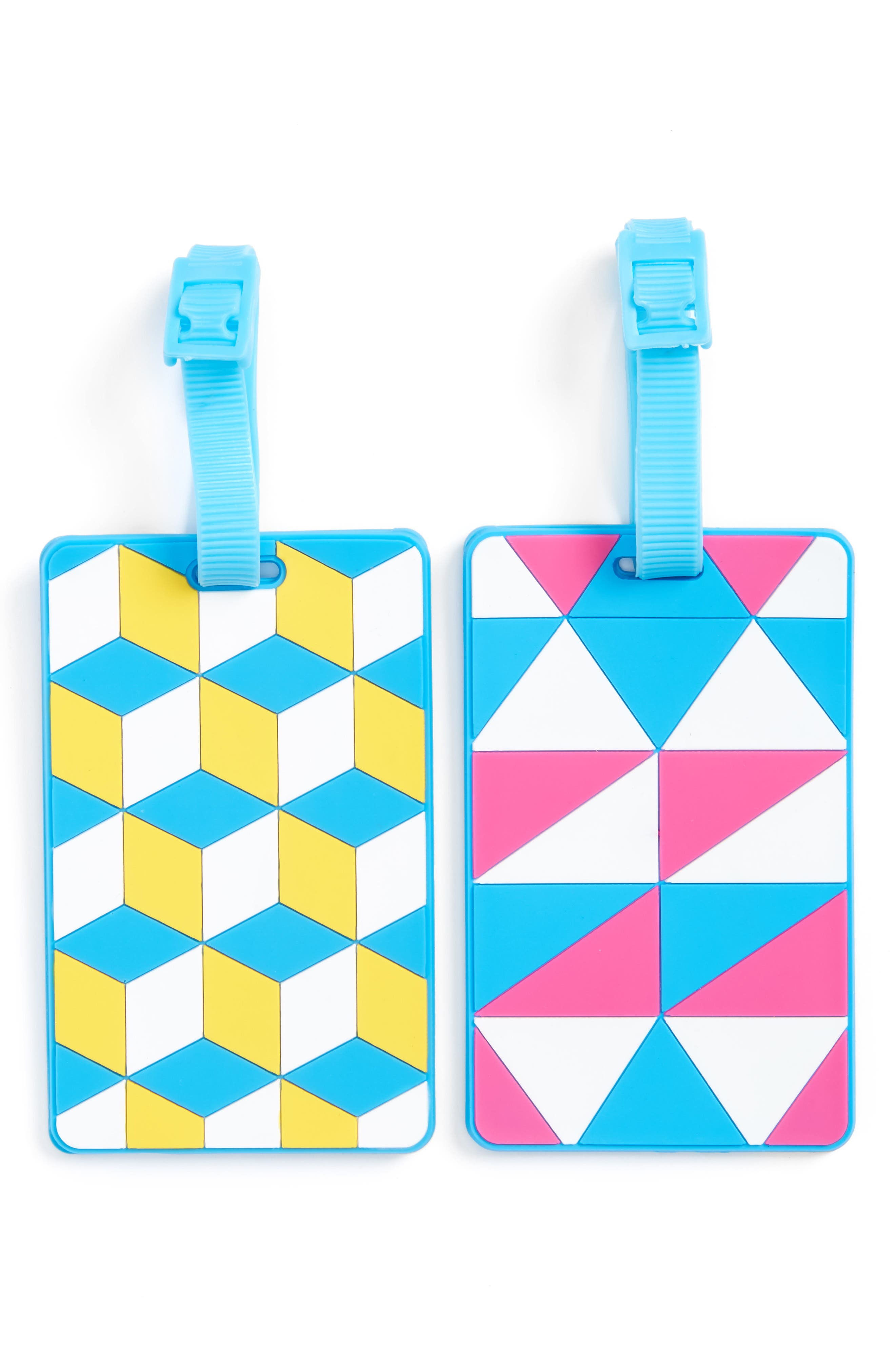 Alternate Image 1 Selected - Flight 001 Essentials Set of 2 Rubber Luggage Tags