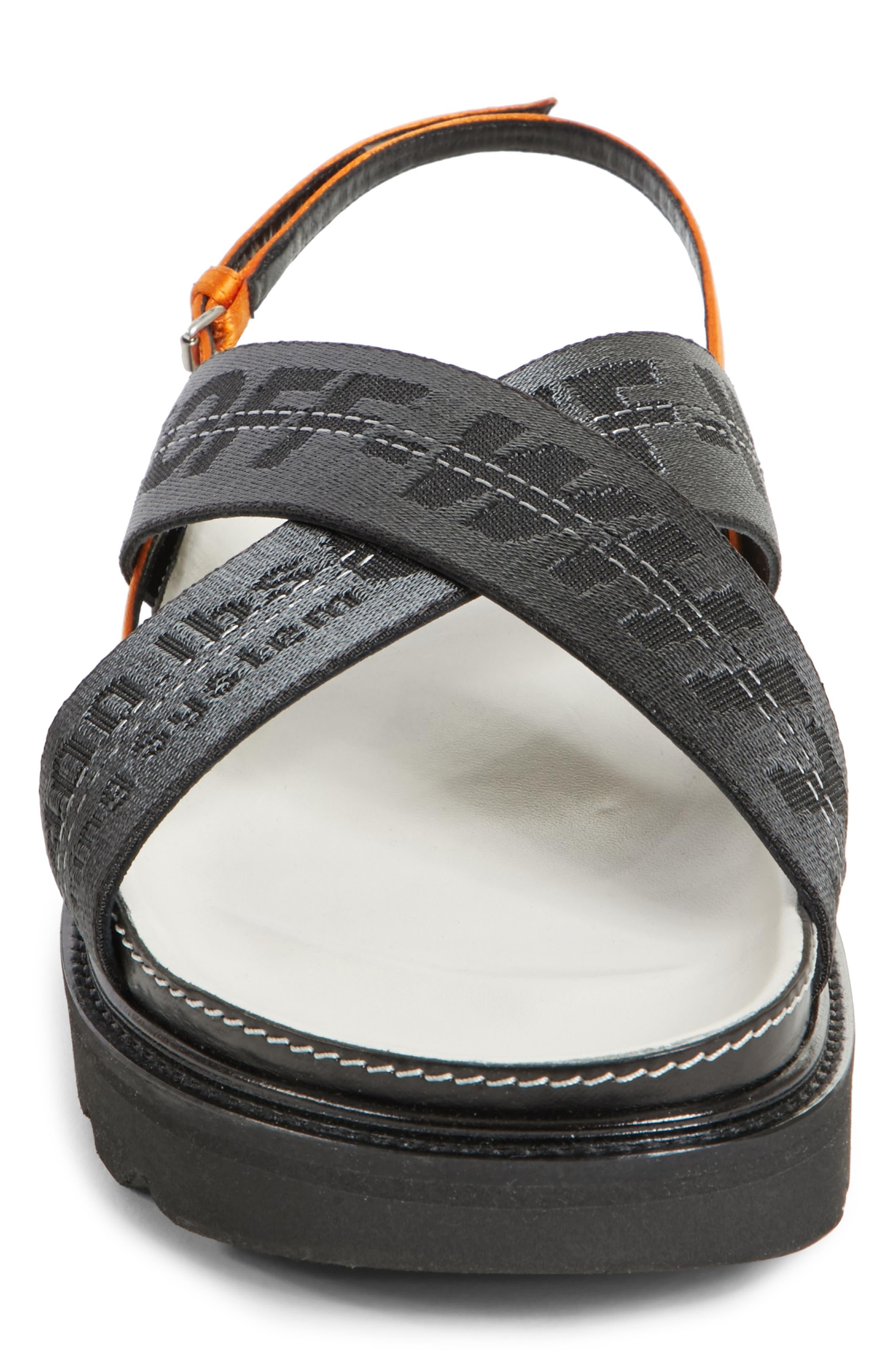 Industrial Belt Sandal,                             Alternate thumbnail 4, color,                             Black Black