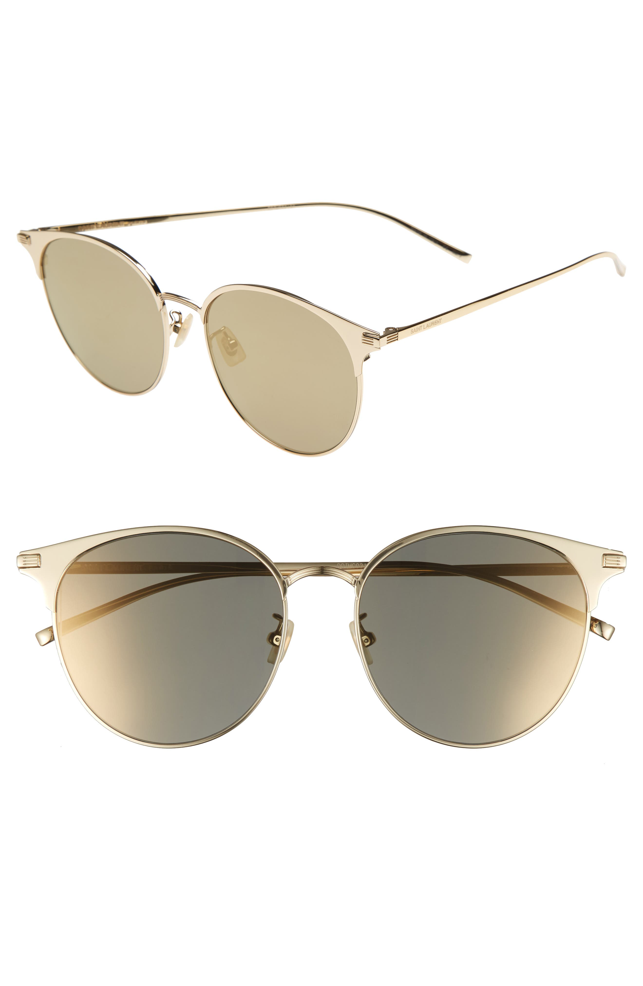 57mm Sunglasses,                         Main,                         color, Gold