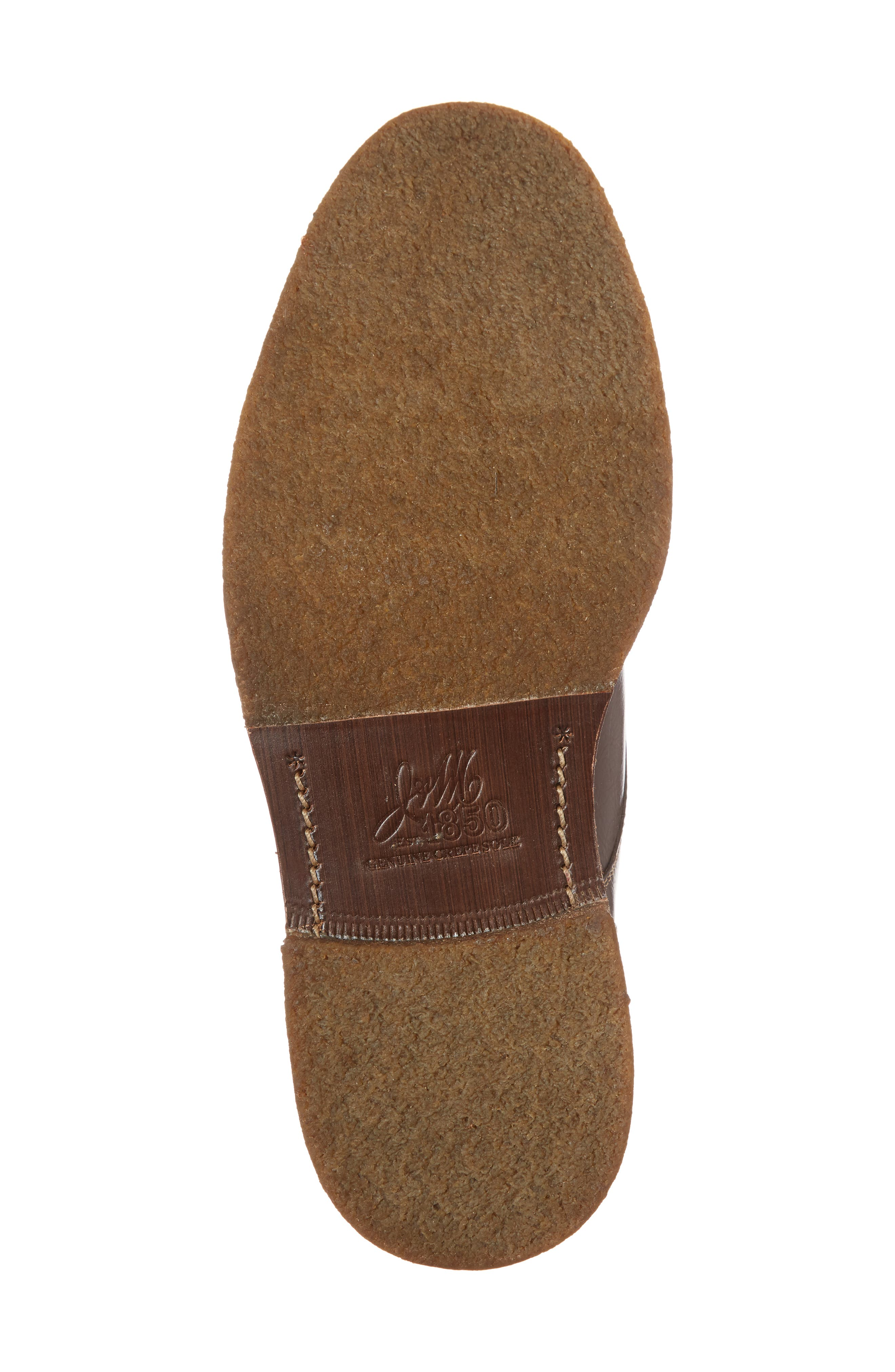 Forrester Genuine Shearling Lined Cap Toe Boot,                             Alternate thumbnail 6, color,                             Chocolate Leather
