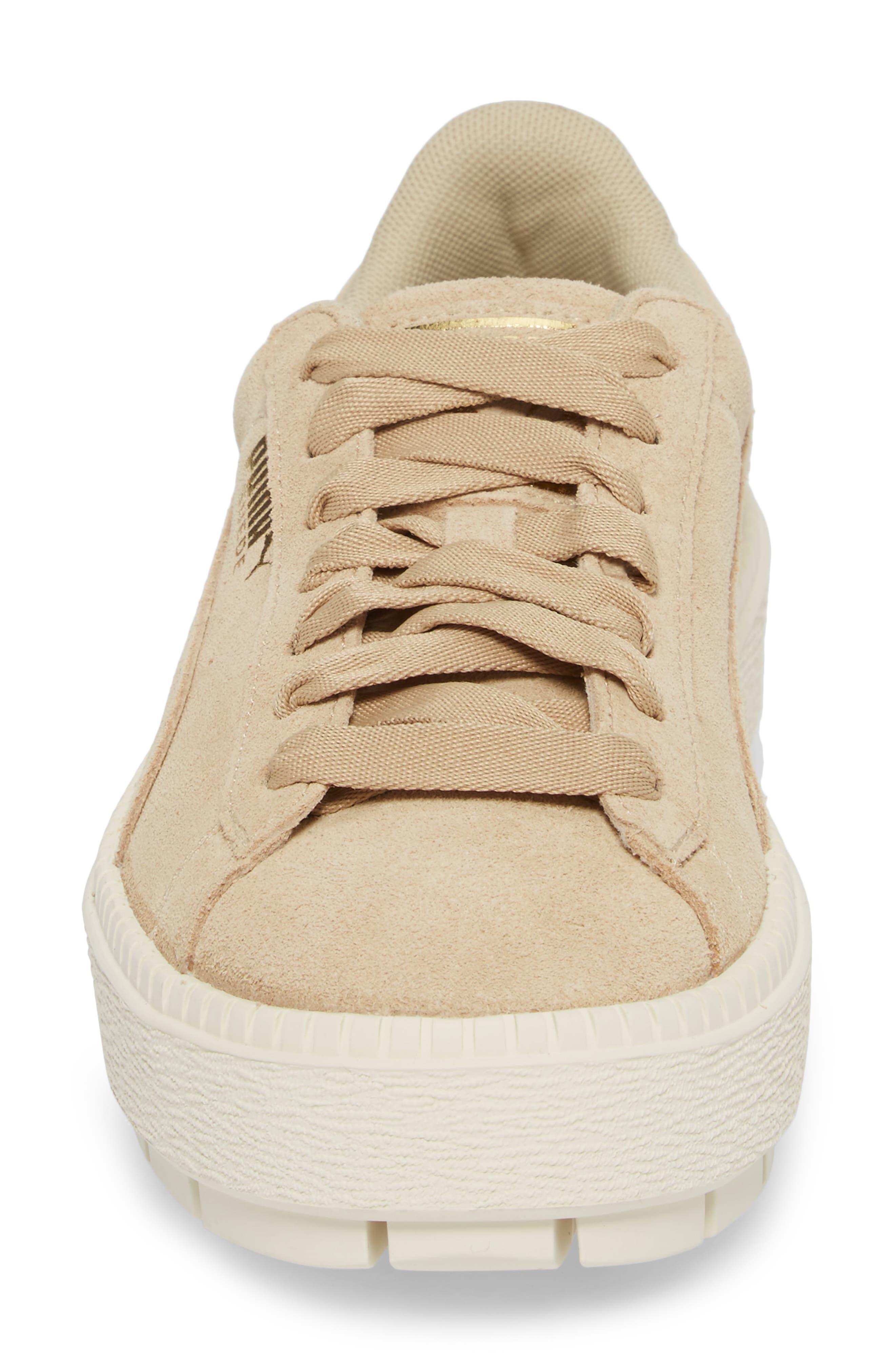 Platform Trace Sneaker,                             Alternate thumbnail 4, color,                             Safari-Marshamallow