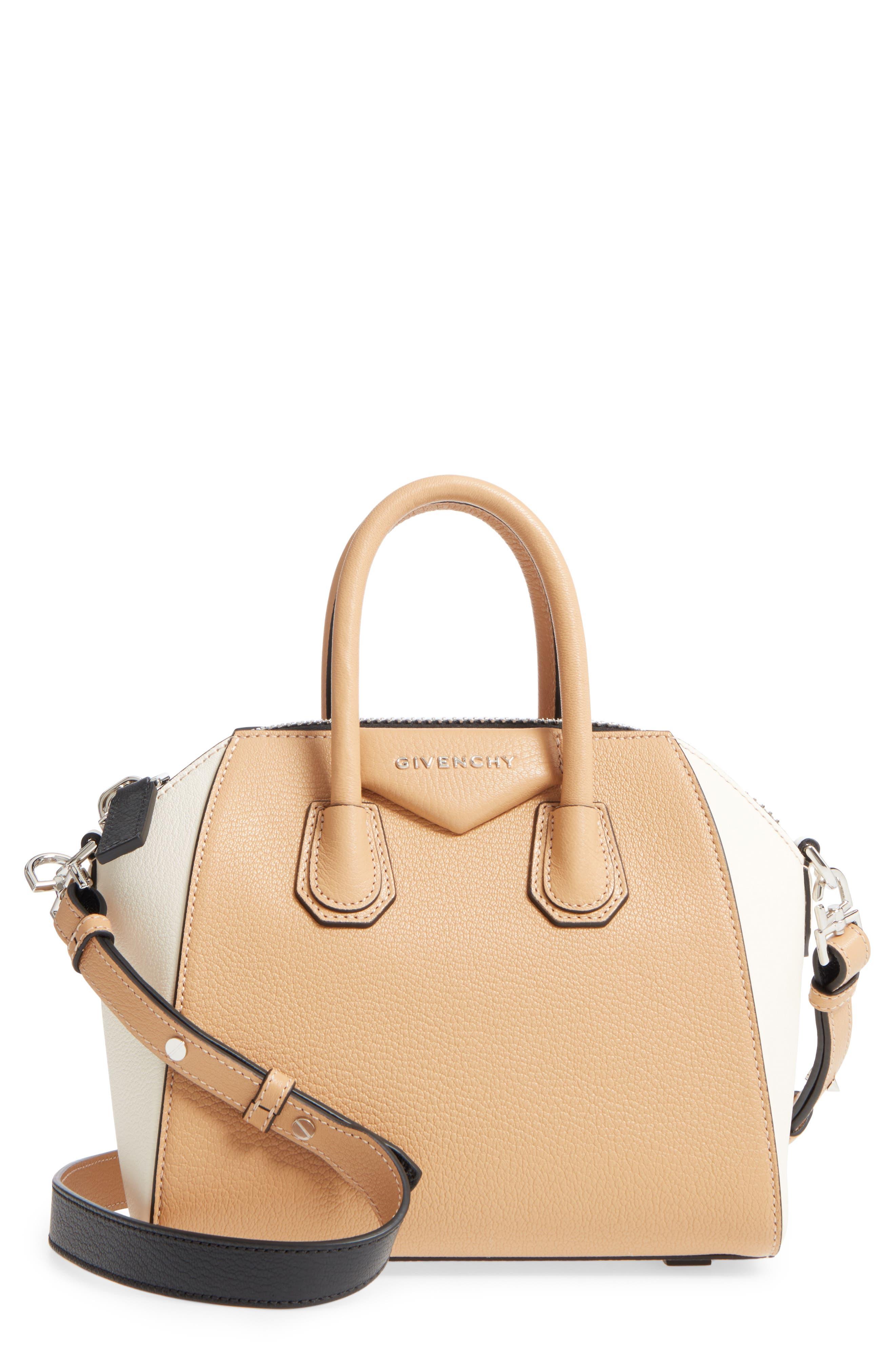 Main Image - Givenchy Mini Antigona Bicolor Sugar Leather Satchel