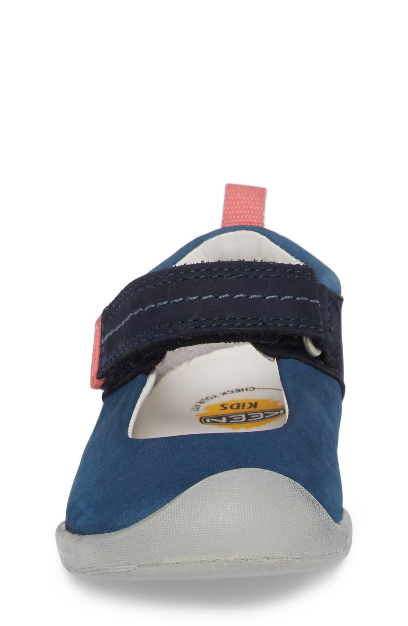 Pep Mary Jane-T Sneaker,                             Alternate thumbnail 4, color,                             Dress Blues/ Sugar Coral