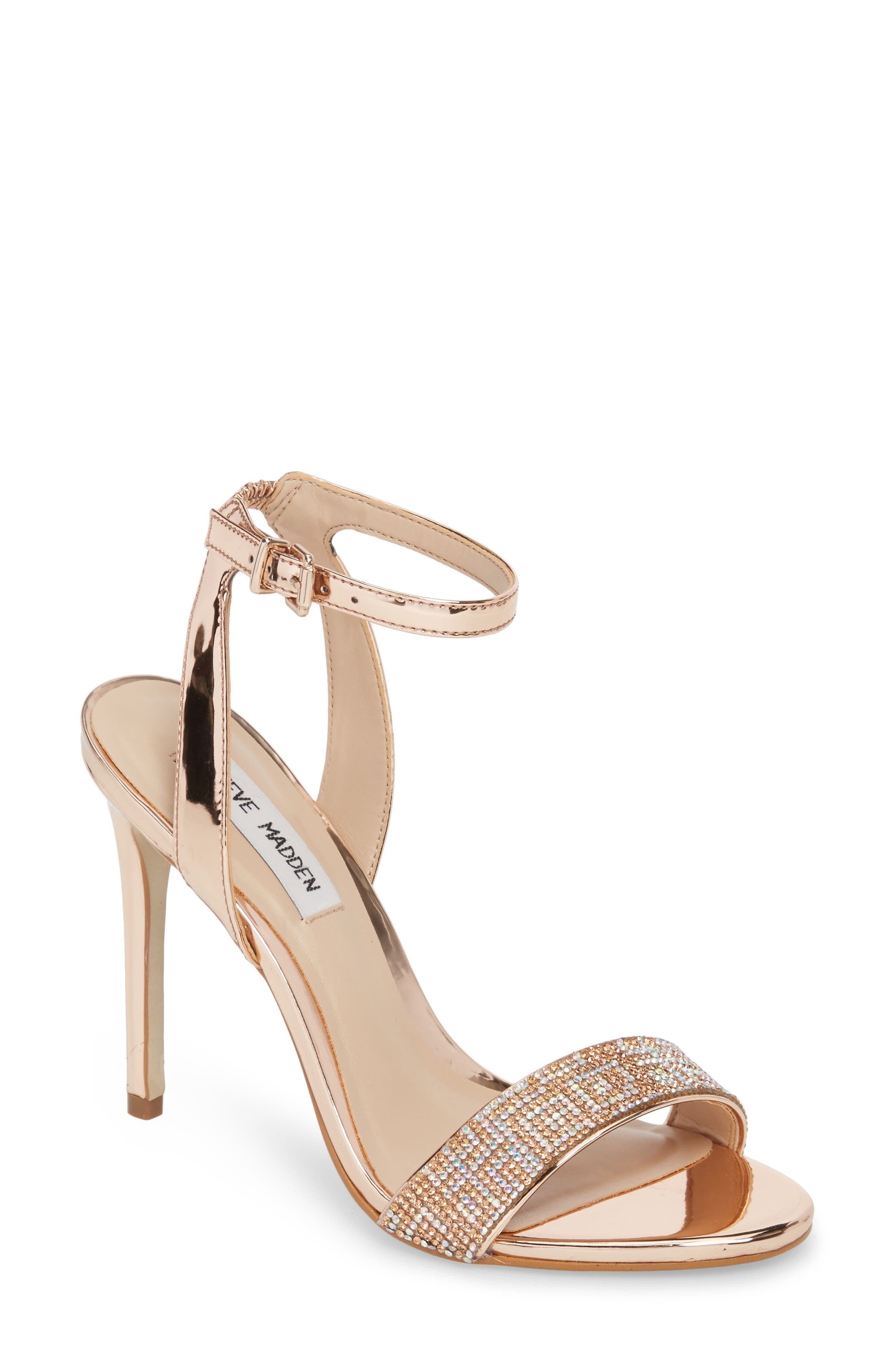 Leona Sandal,                         Main,                         color, Rose Gold Leather