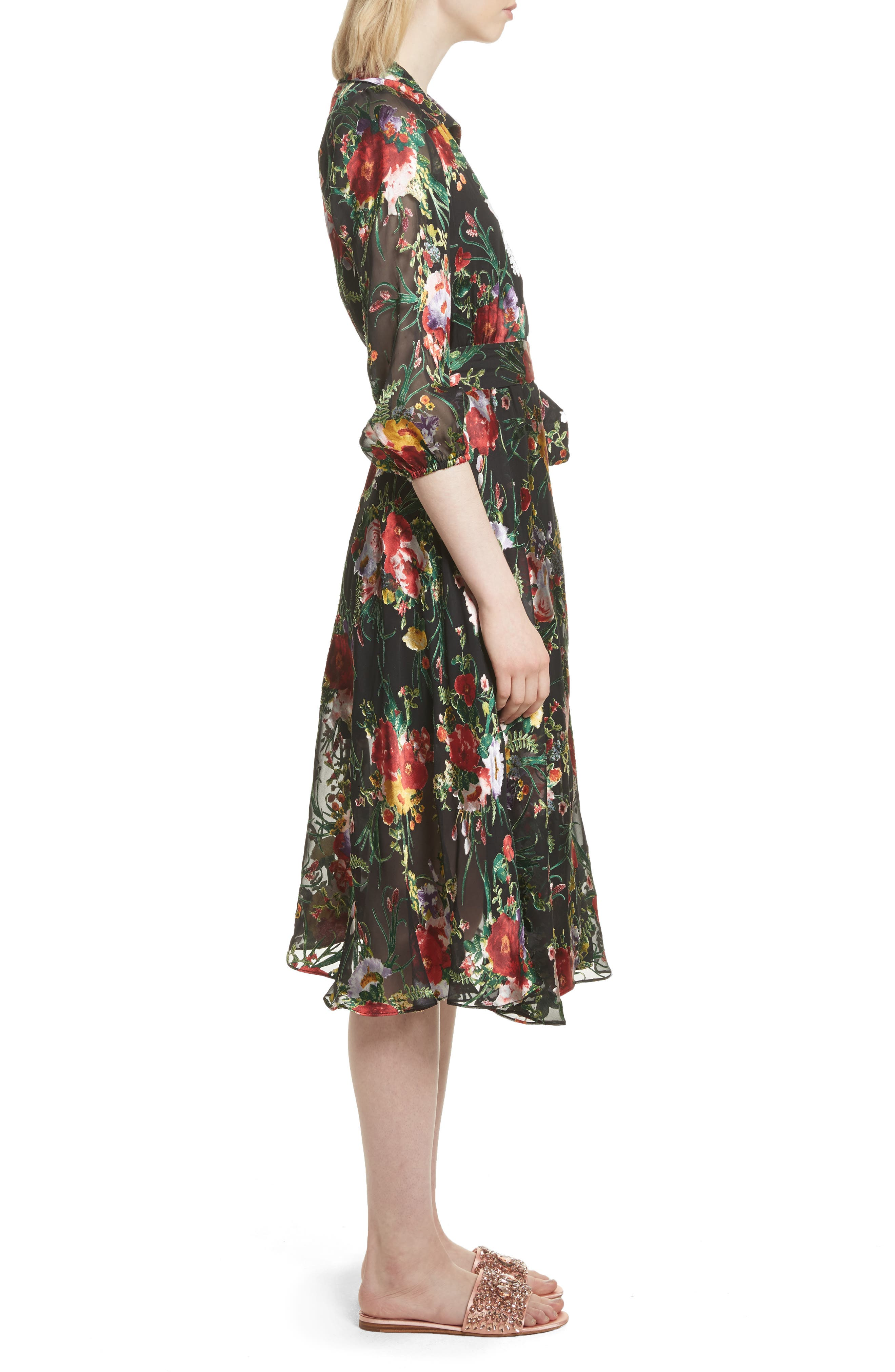 Abney Floral Wrap Shirtdress,                             Alternate thumbnail 3, color,                             Blooming Bouquet