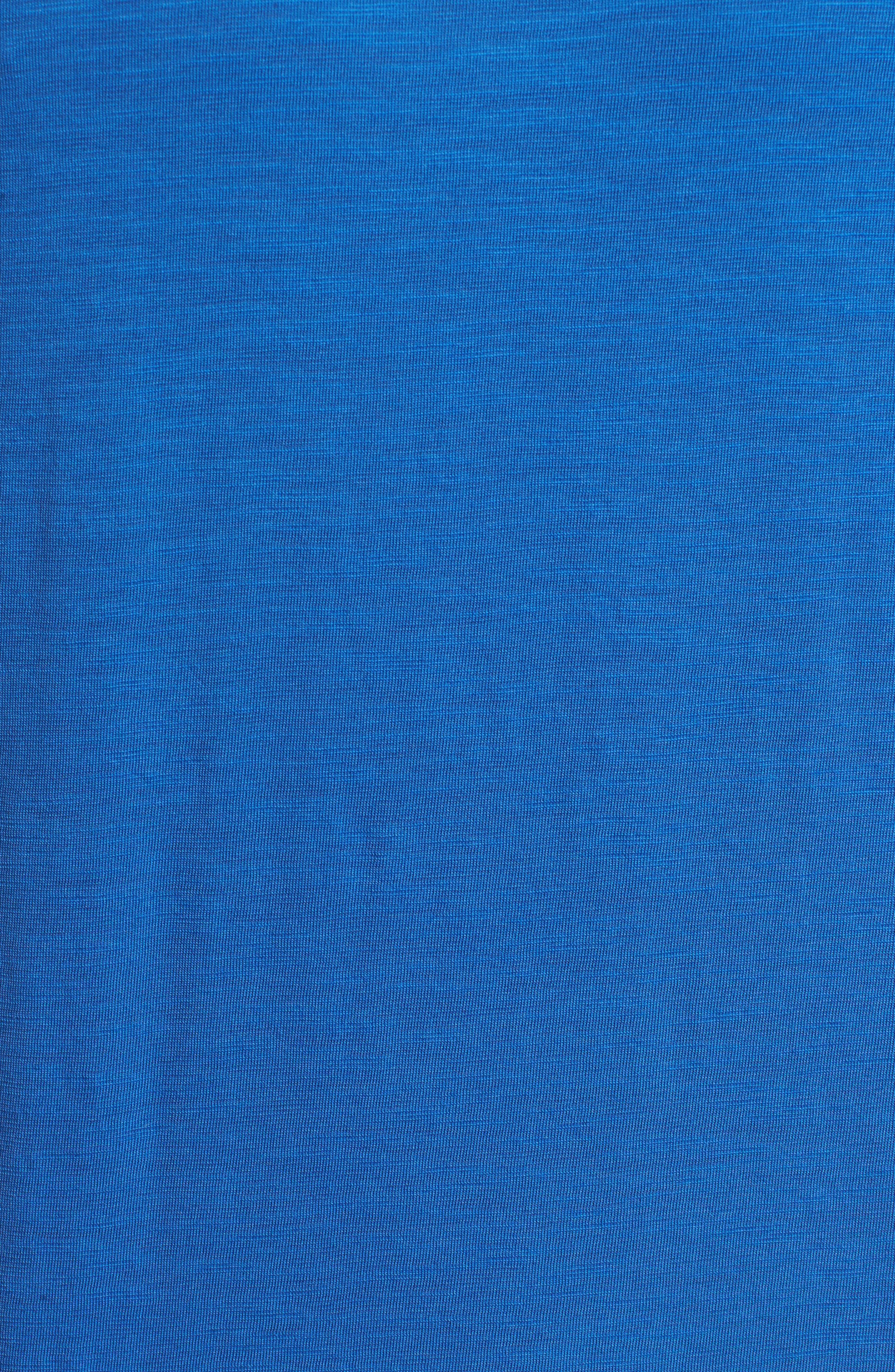 Portside Palms V-Neck T-Shirt,                             Alternate thumbnail 5, color,                             Galaxy Blue
