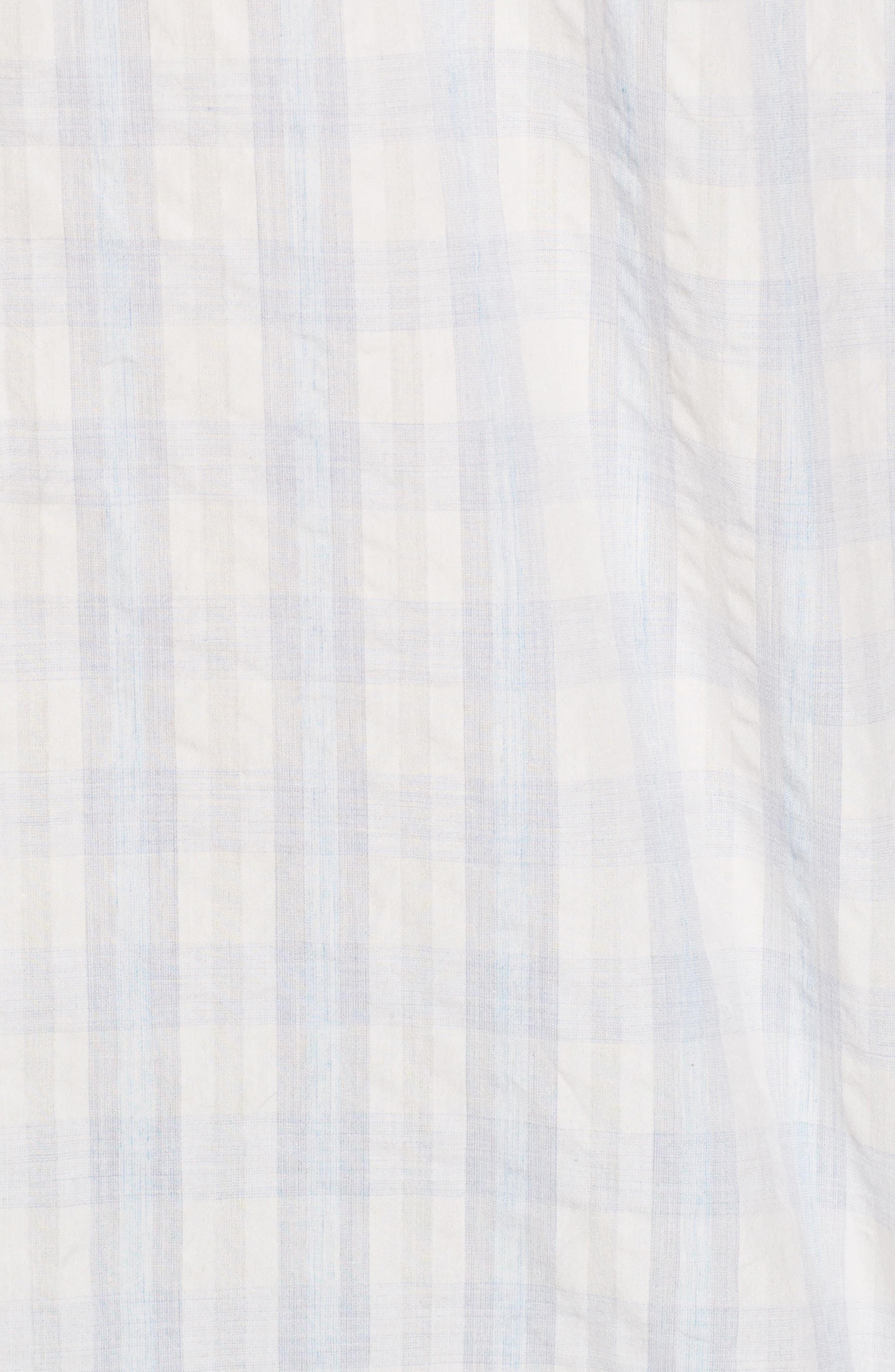 Aubergine Stripe Sport Shirt,                             Alternate thumbnail 5, color,                             White