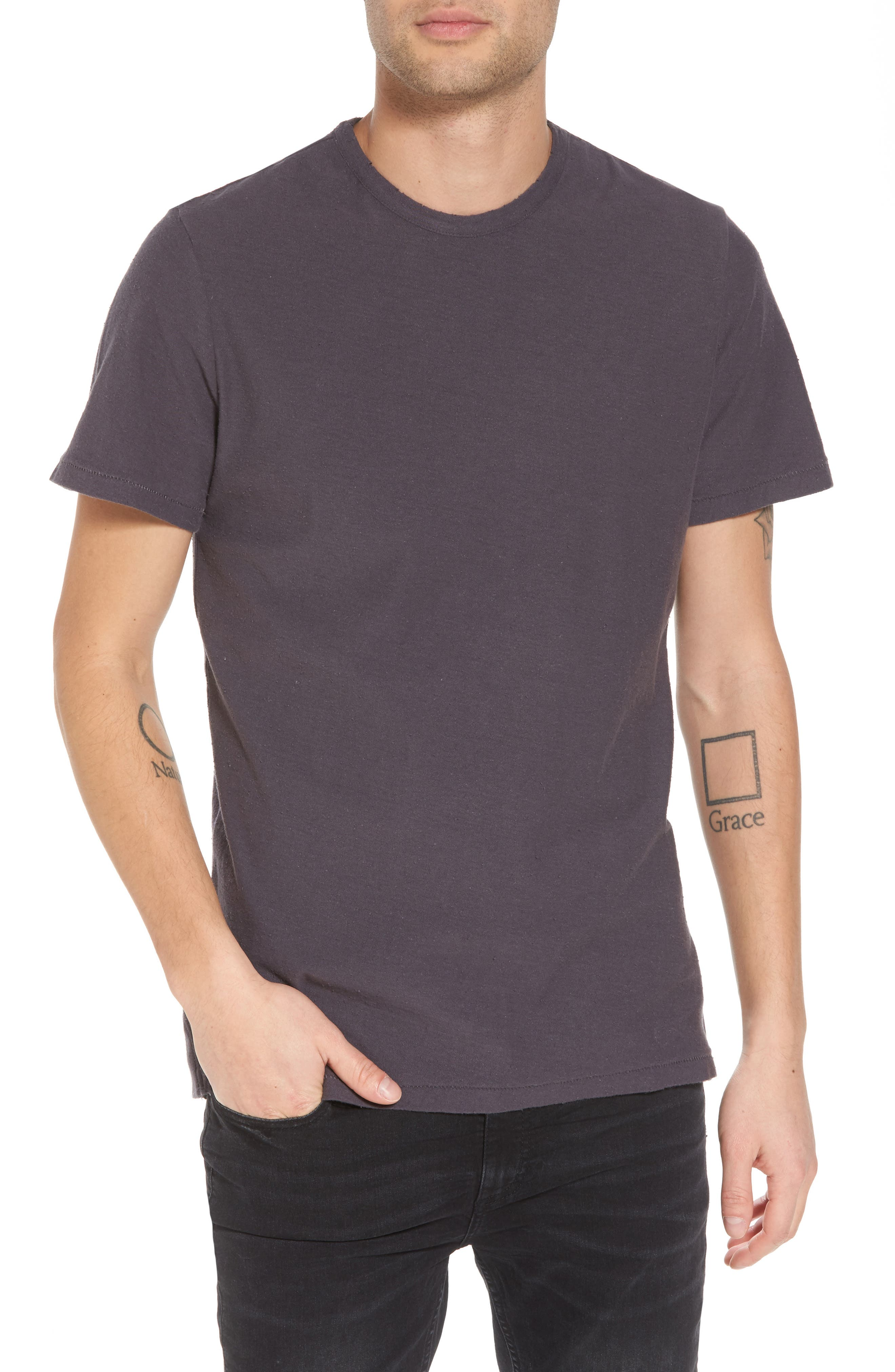 Nep Crewneck T-Shirt,                         Main,                         color, Grey Stonehenge