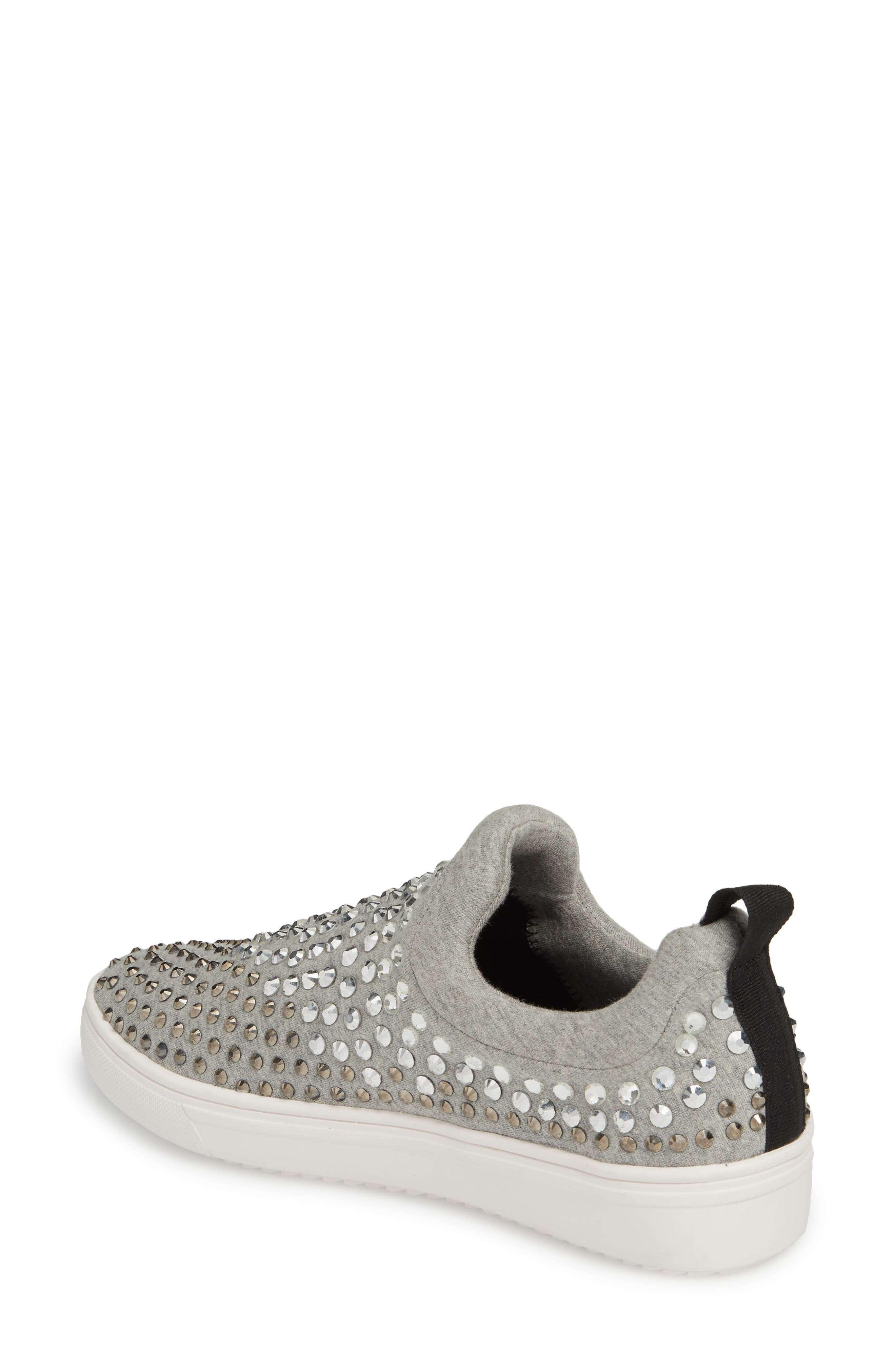 Alternate Image 2  - Steve Madden Sherry Crystal Embellished Sneaker (Women)
