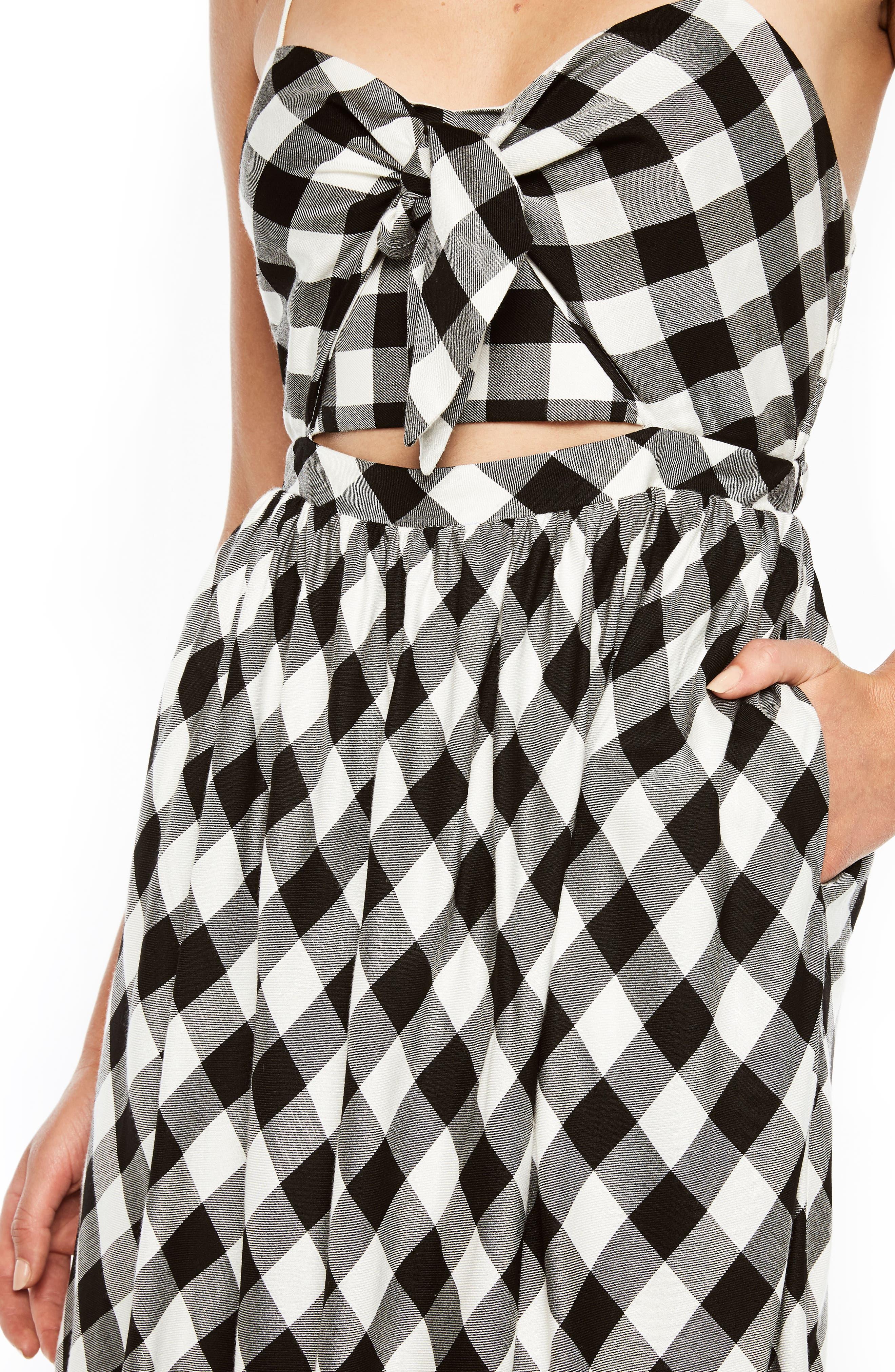 Ibiza Check Dress,                             Alternate thumbnail 5, color,                             Gingham