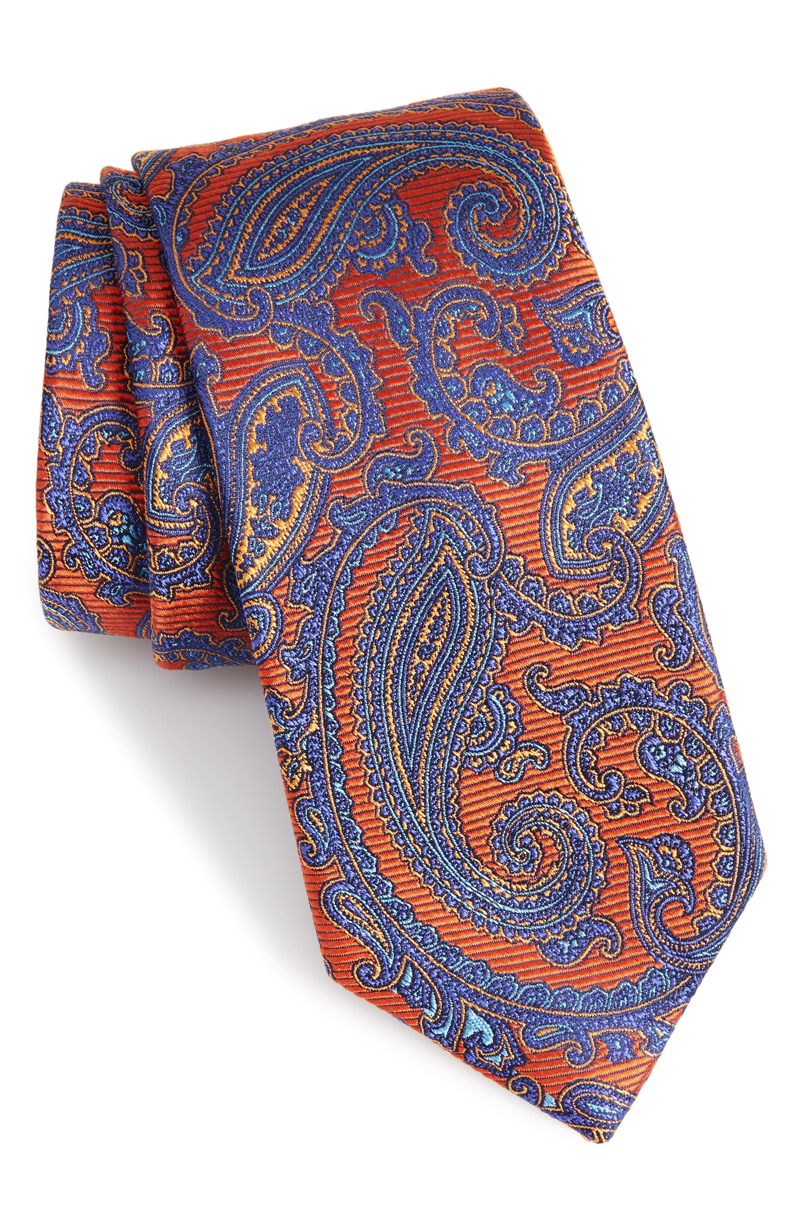 Alternate Image 1 Selected - Nordstrom Men's Shop Brielle Paisley Silk Tie