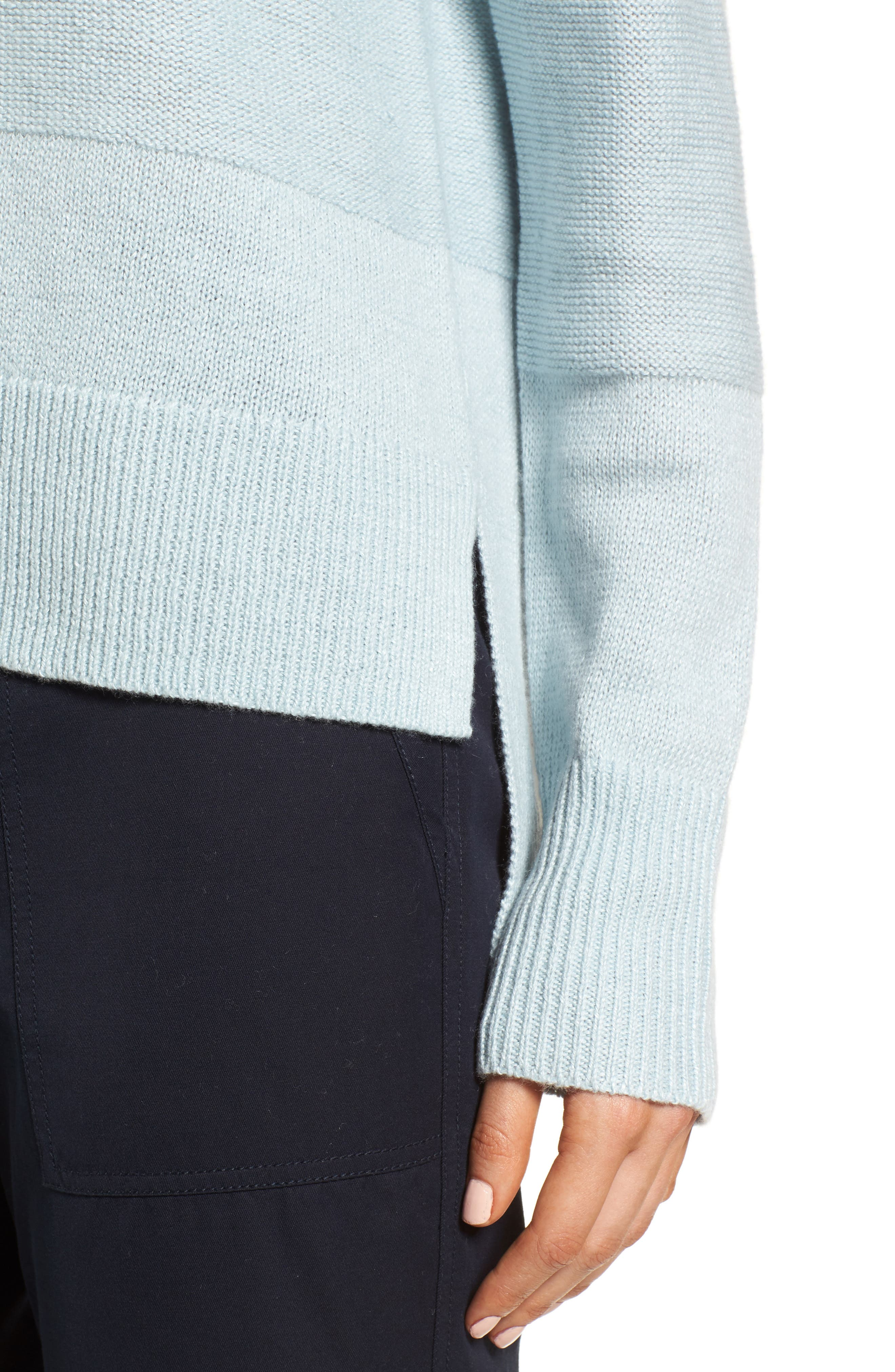 Linen & Cashmere Sweater,                             Alternate thumbnail 4, color,                             Teal Steam