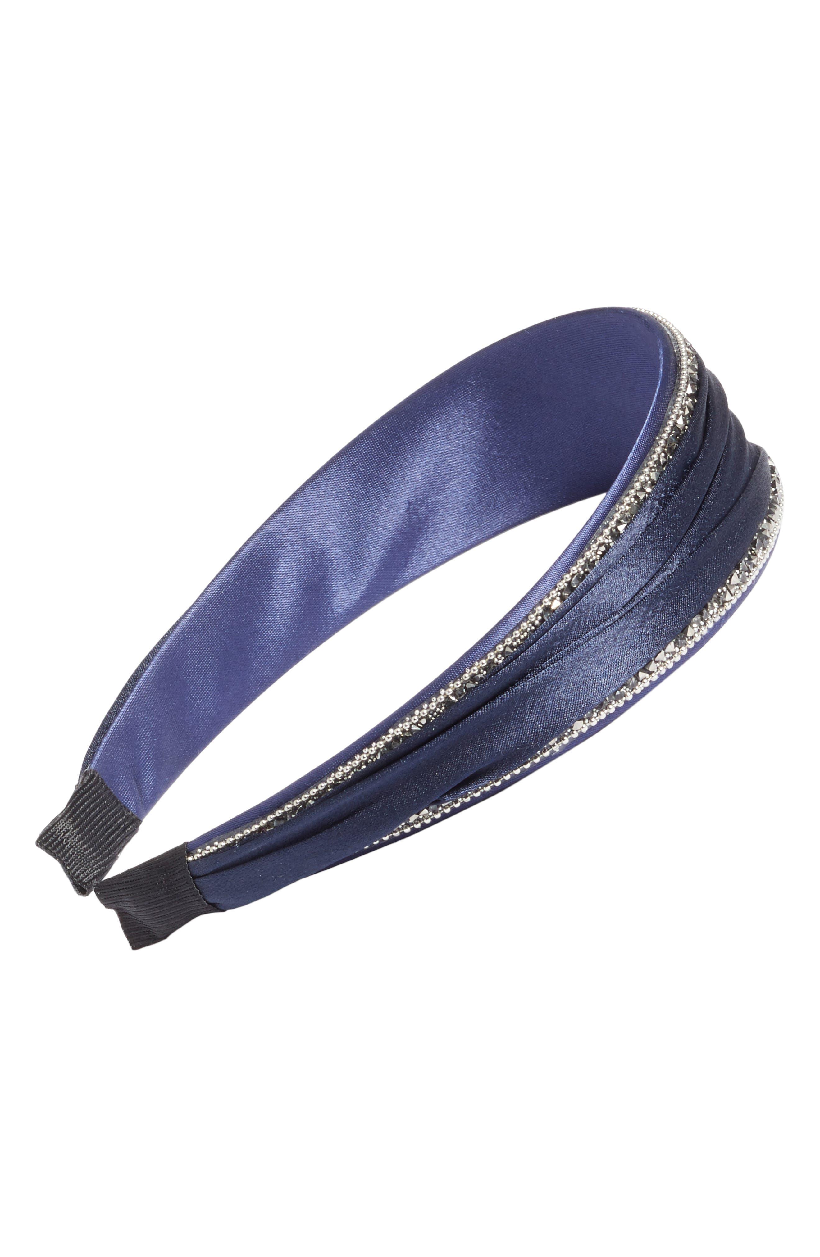 Sparkle Headband,                         Main,                         color, Navy