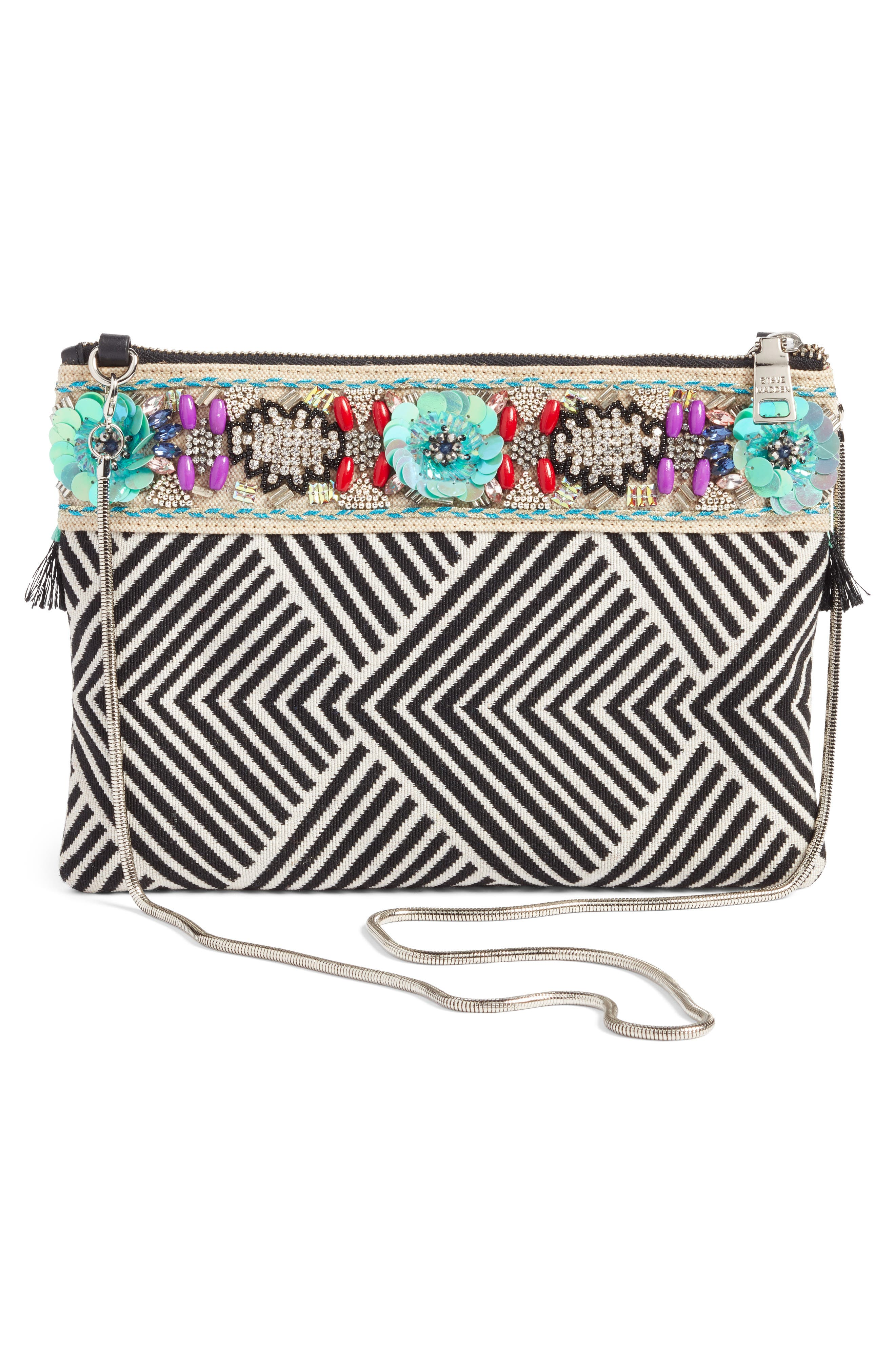 Beaded Clutch,                             Alternate thumbnail 2, color,                             Blue Multi
