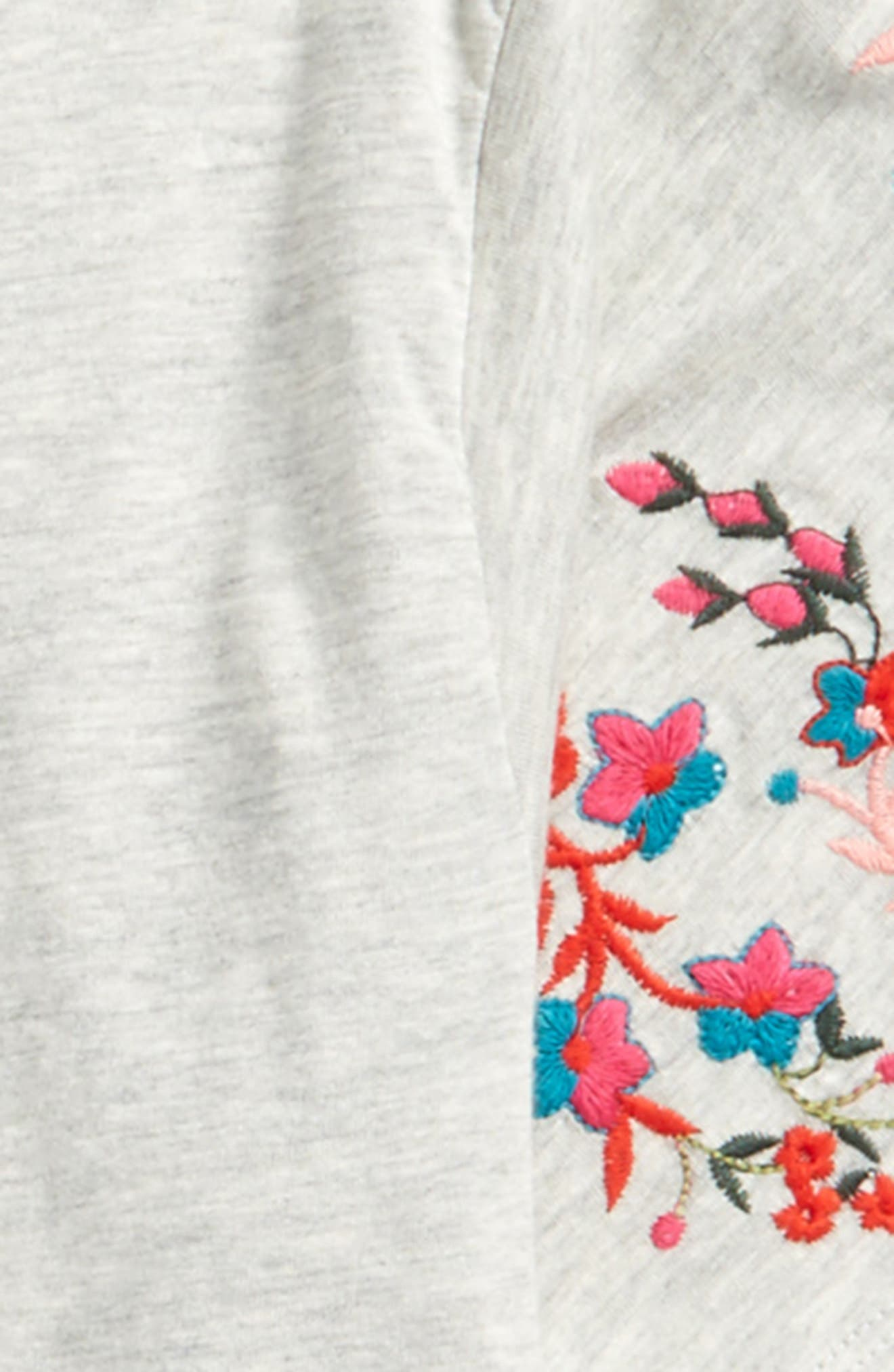 Alternate Image 2  - Truly Me Embroidered Sleeve Top (Big Girls)