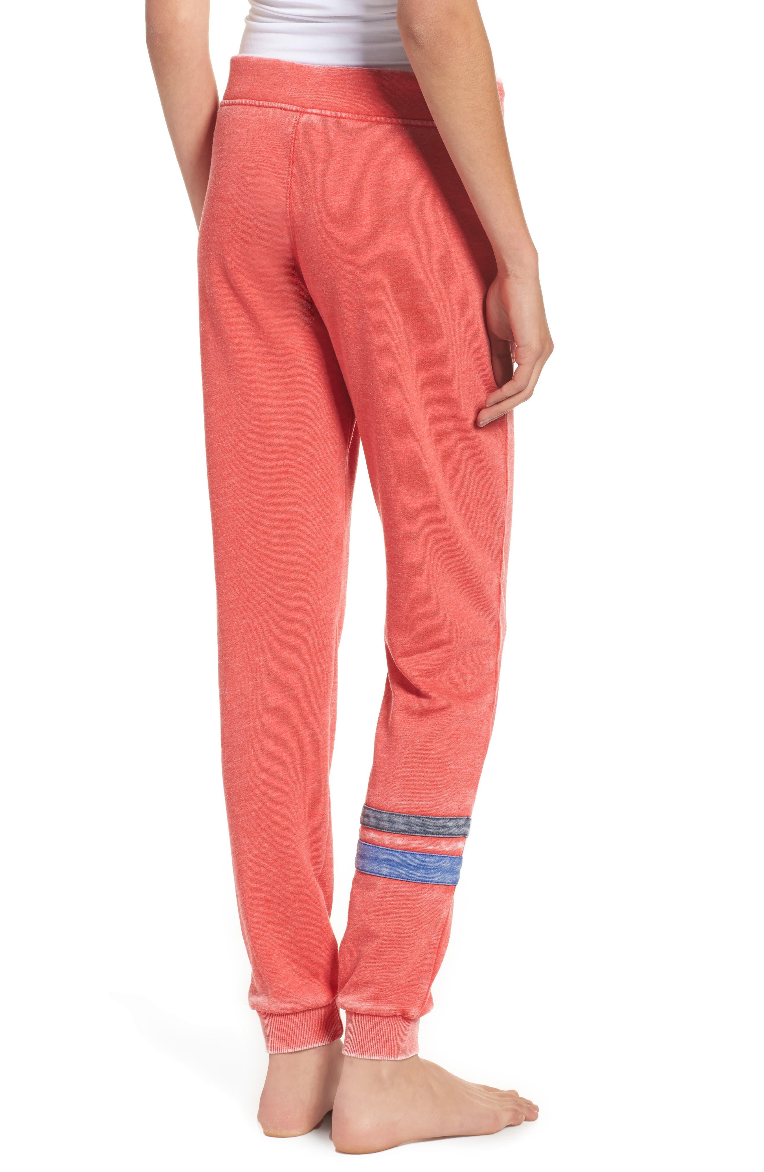 Long Weekend Lounge Jogger Pants,                             Alternate thumbnail 2, color,                             Red Bloom/ Dark Navy/ Blue