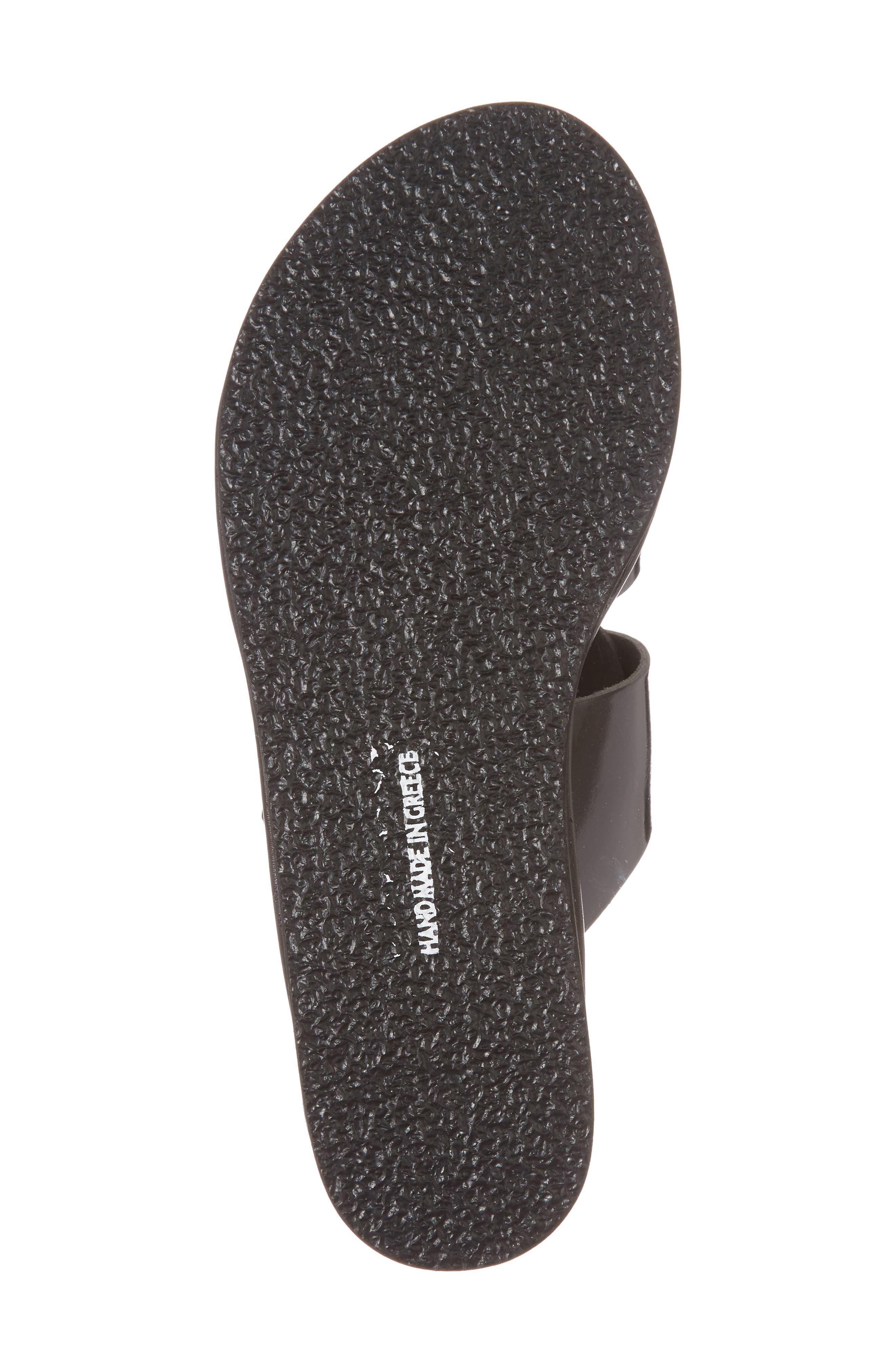 Iaso Slide Sandal,                             Alternate thumbnail 6, color,                             Black