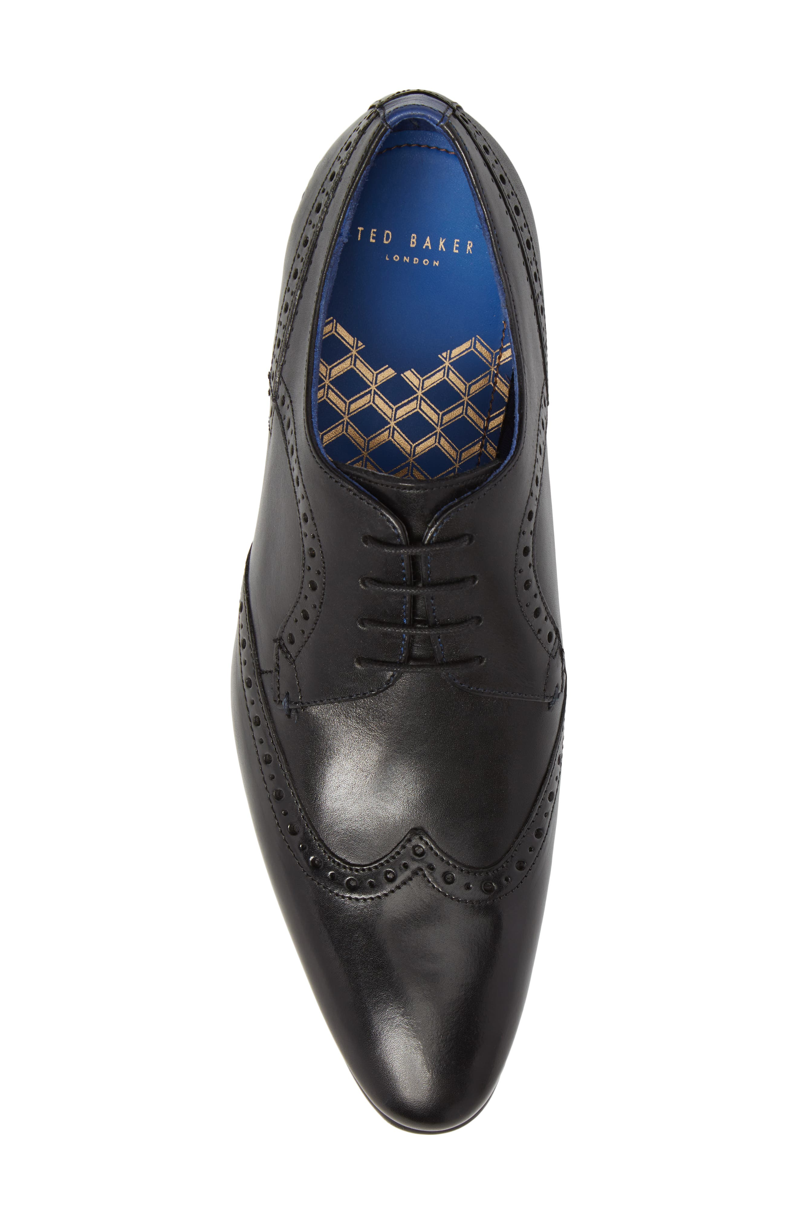 Ollivur Wingtip,                             Alternate thumbnail 5, color,                             Black Leather