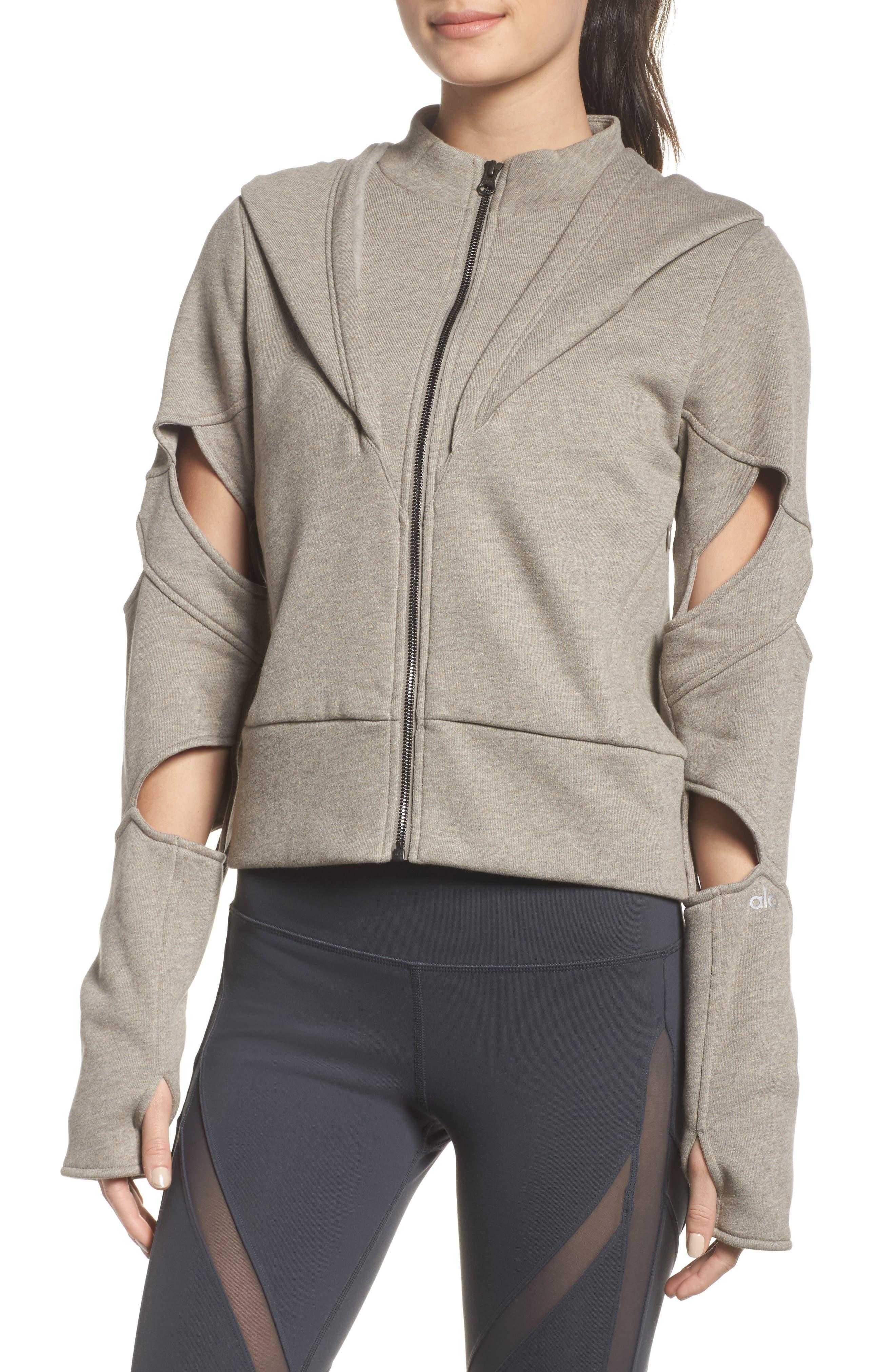 Alternate Image 4  - Alo Mix Hooded Jacket