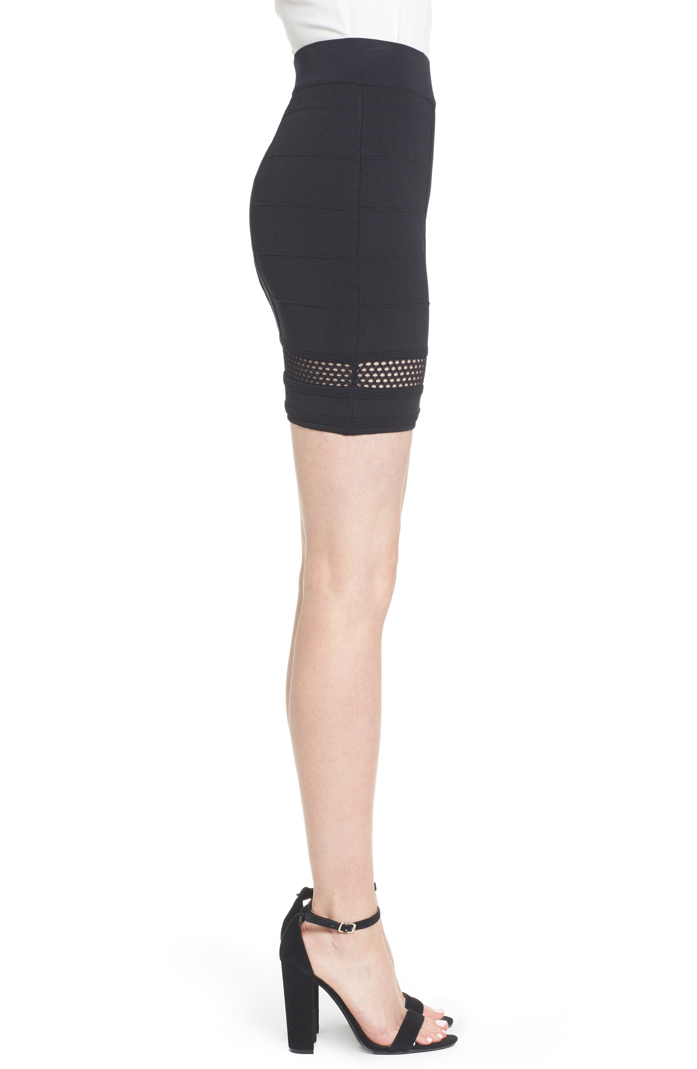 Bishop + Young Siena Peekaboo Skirt,                             Alternate thumbnail 3, color,                             Black