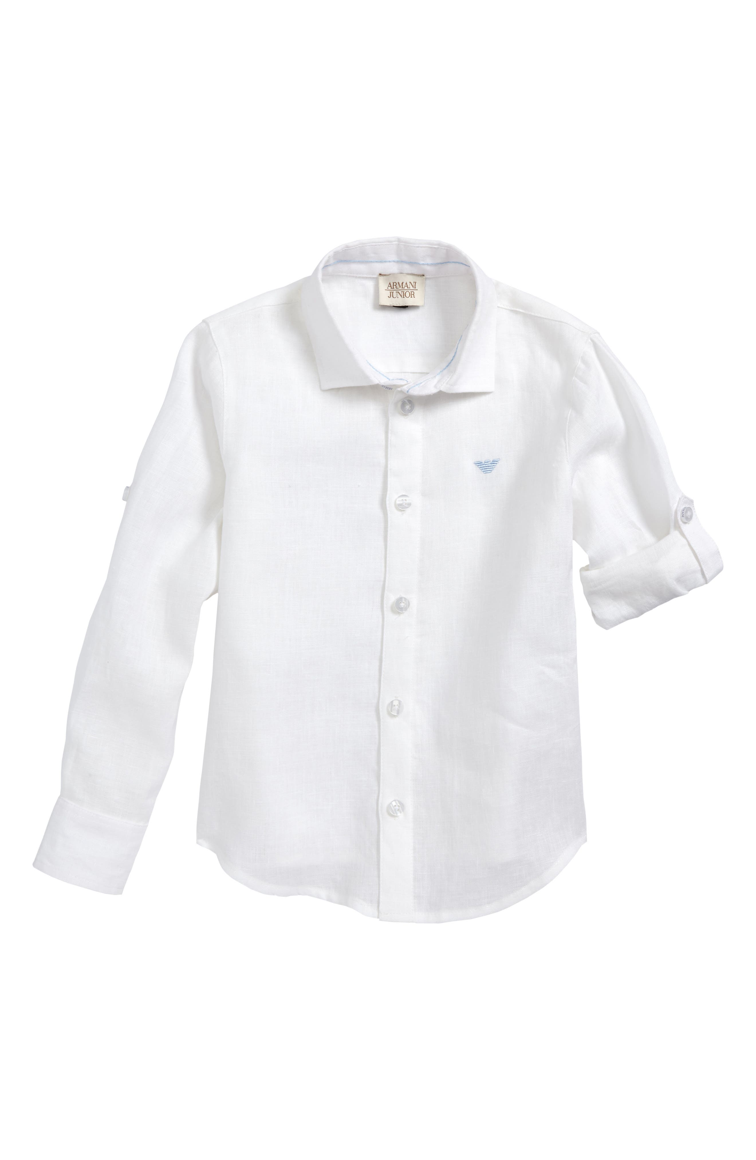Linen Shirt,                             Main thumbnail 1, color,                             White