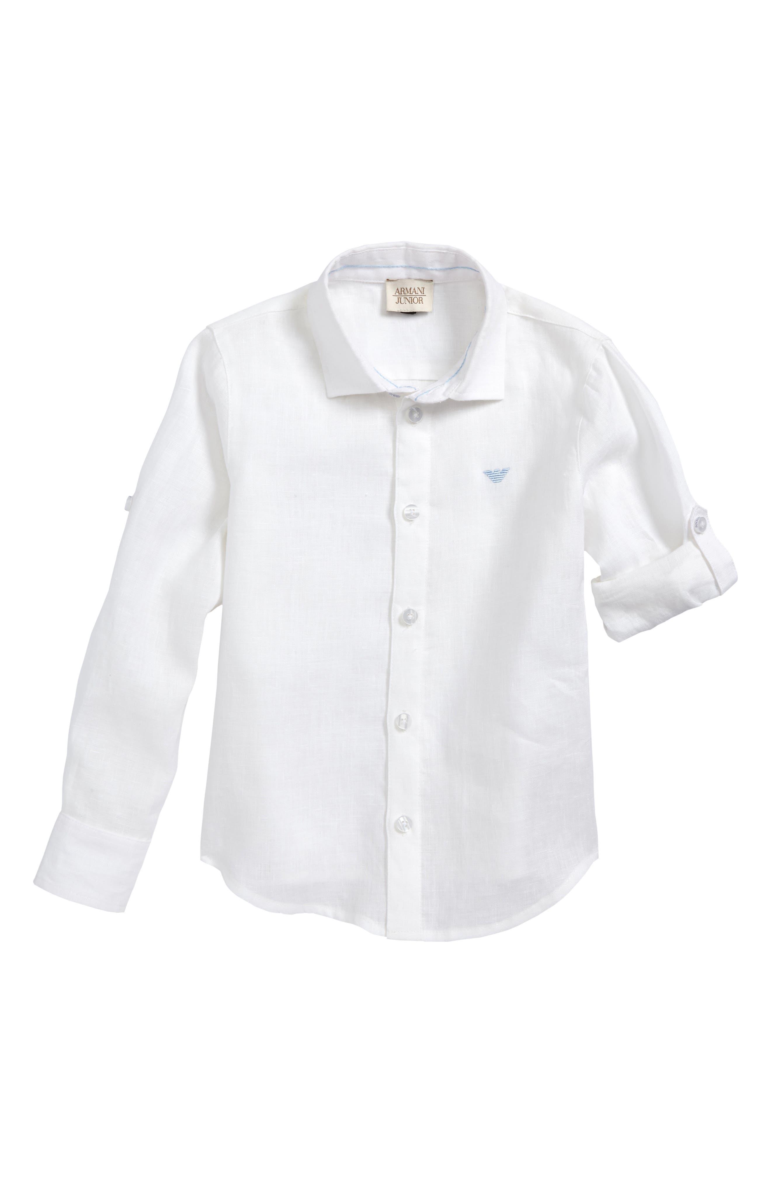 Linen Shirt,                         Main,                         color, White