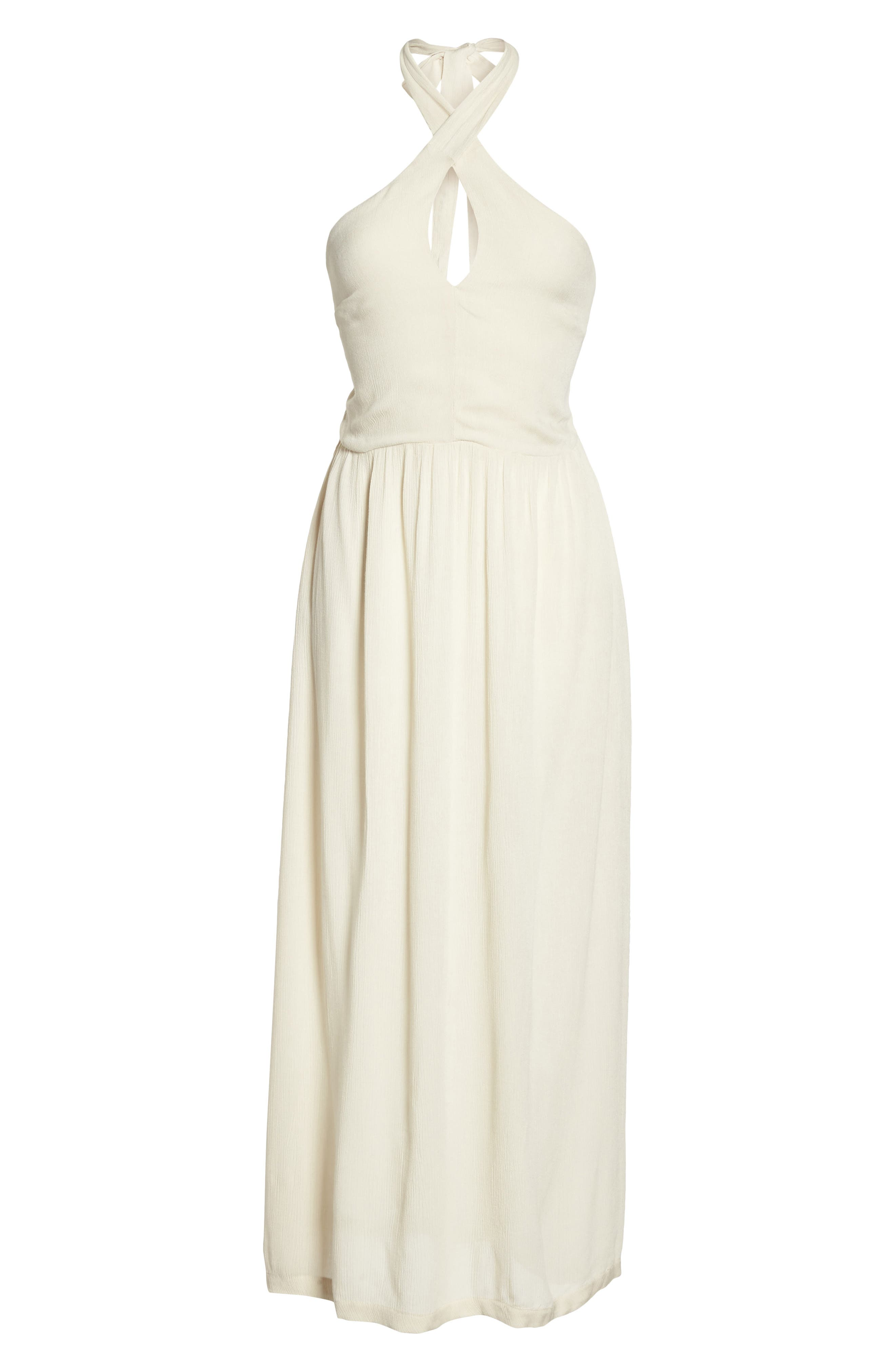 Midi Tie Back Cover-Up Dress,                             Alternate thumbnail 6, color,                             Stone