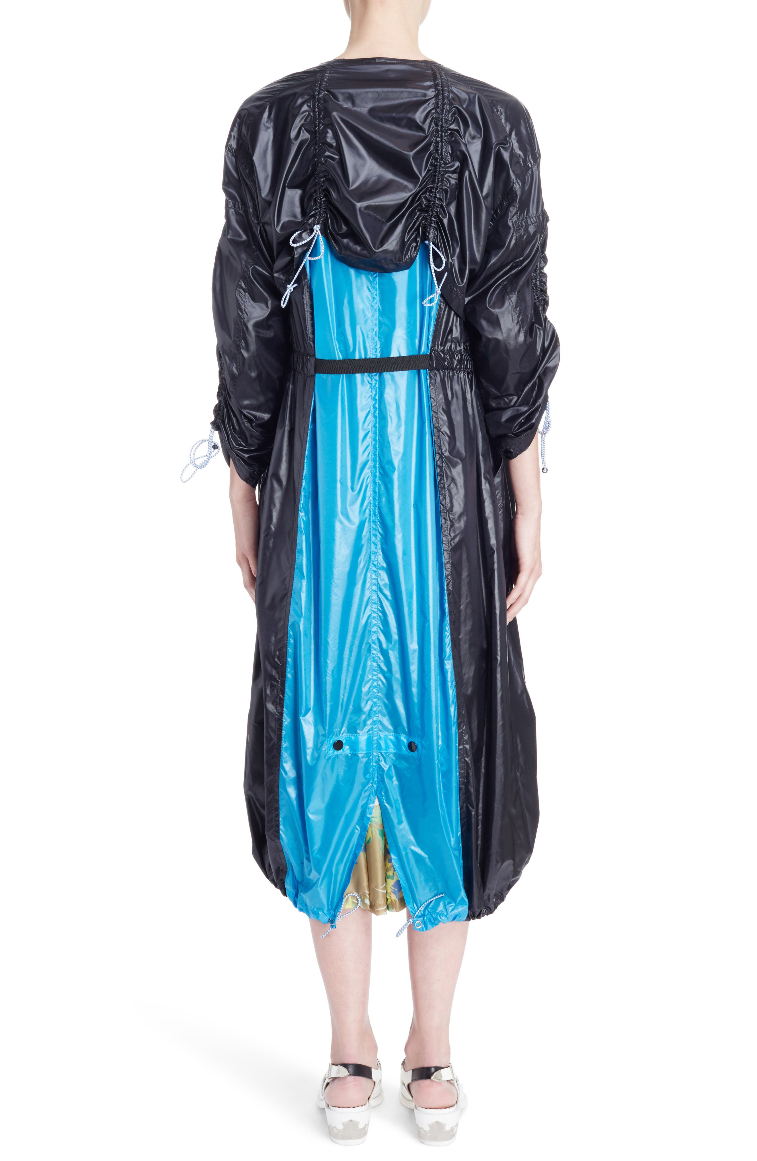Nylon Trench Coat,                             Alternate thumbnail 2, color,                             Black