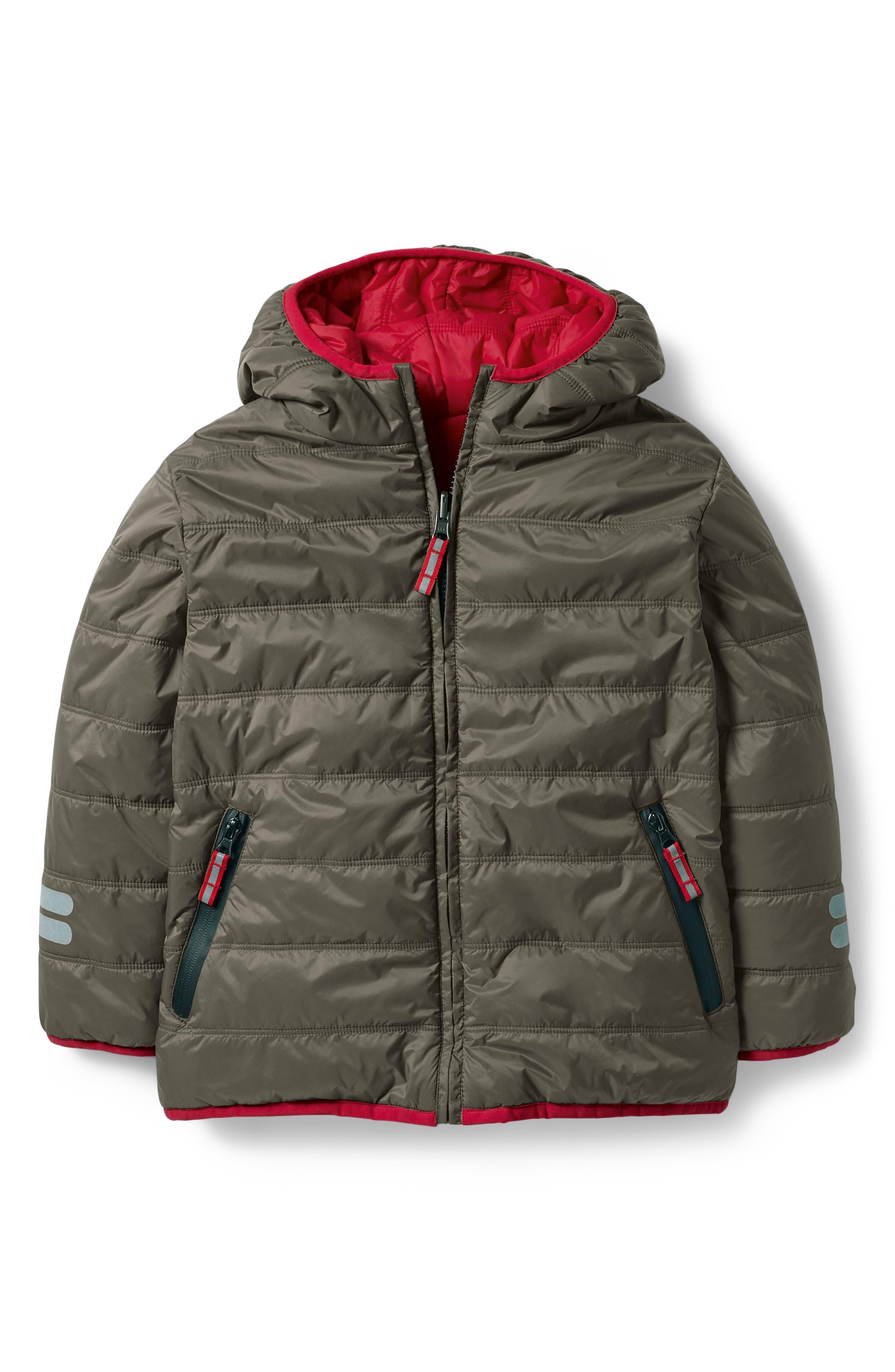 Mini Boden Chilly Days Reversible Hooded Jacket (Toddler Boys, Little Boys & Big Boys)