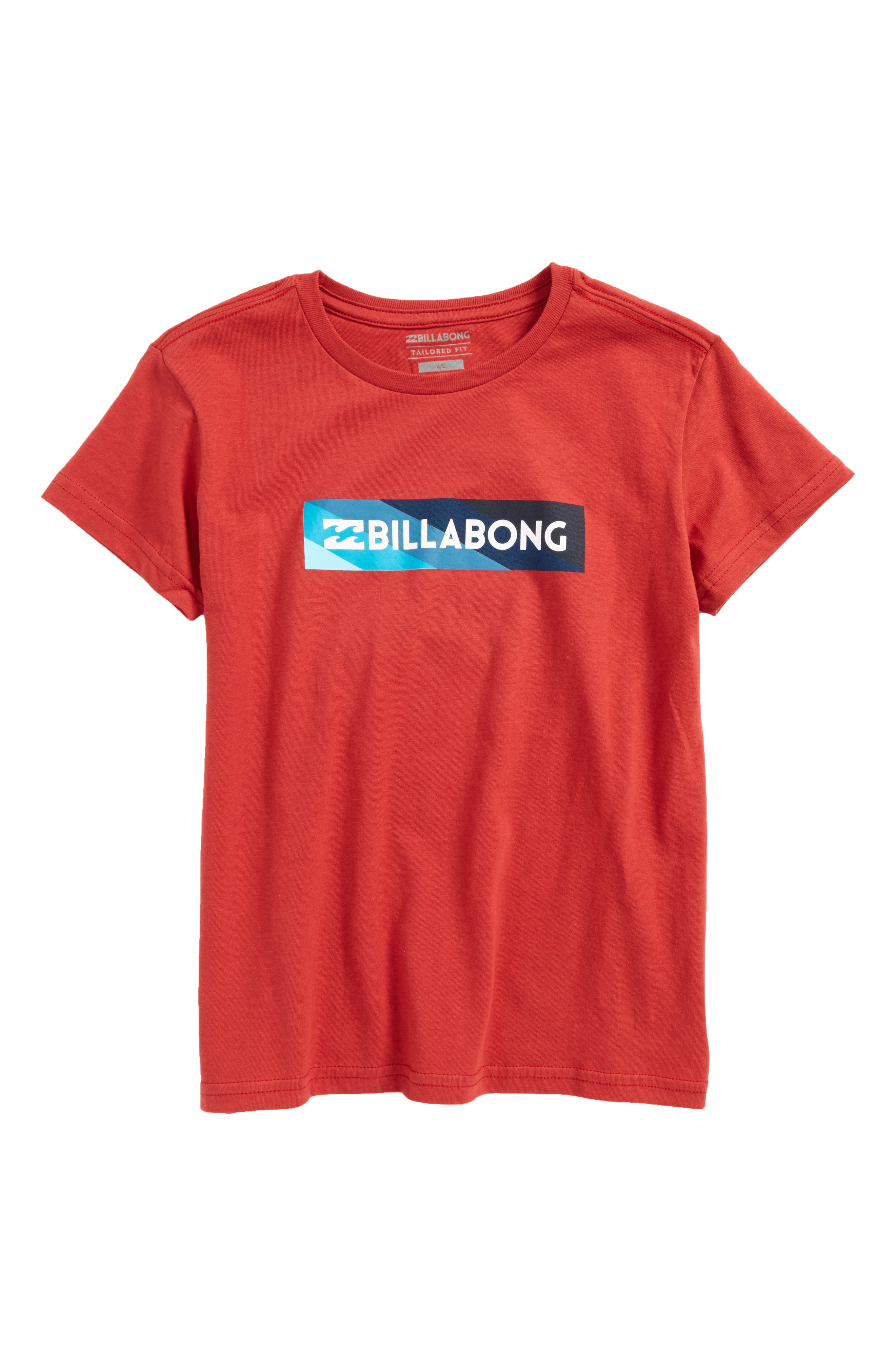 Unity Block Graphic T-Shirt,                         Main,                         color, Red