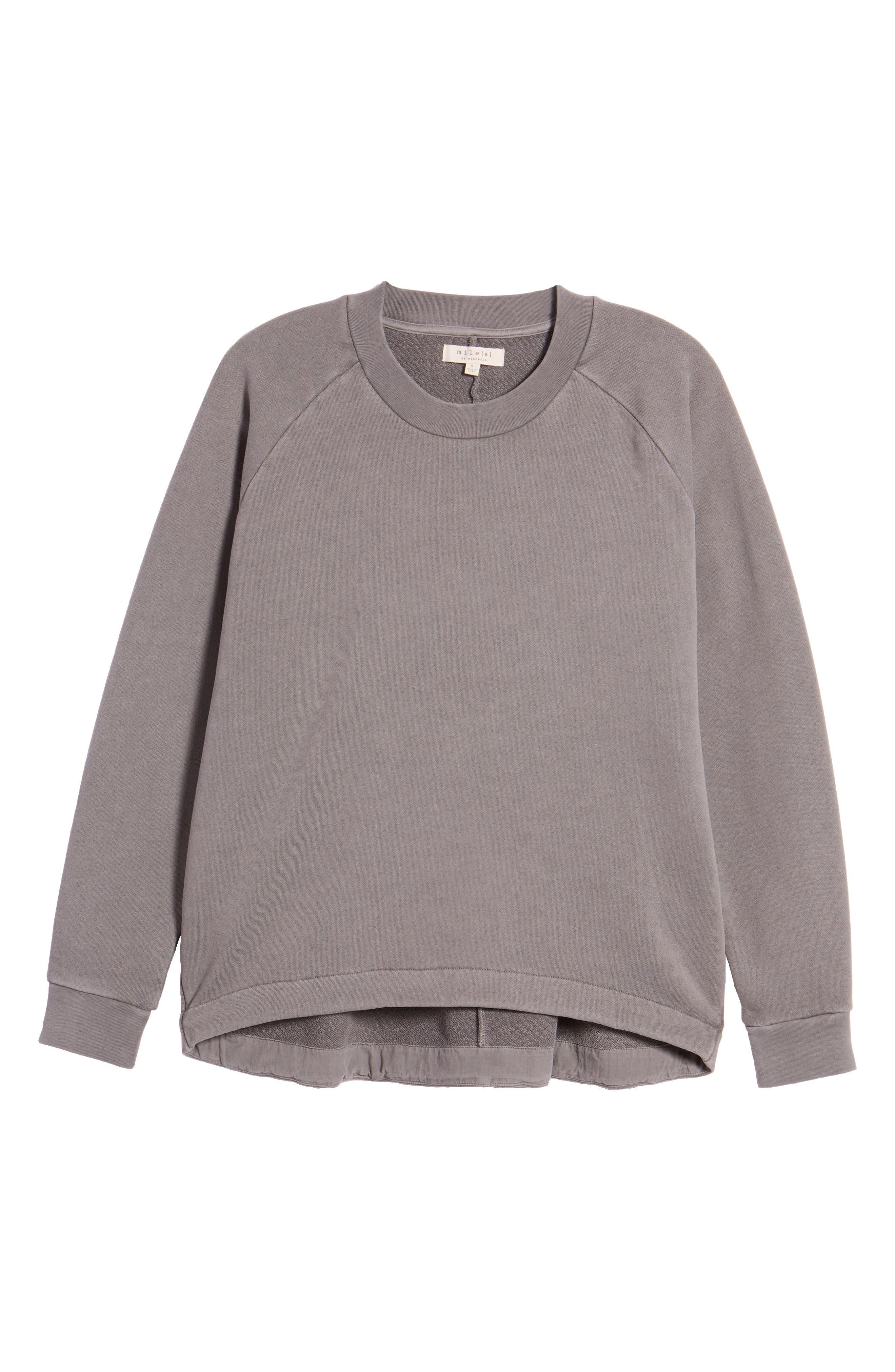 Drawstring Sweatshirt,                             Alternate thumbnail 6, color,                             Walrus