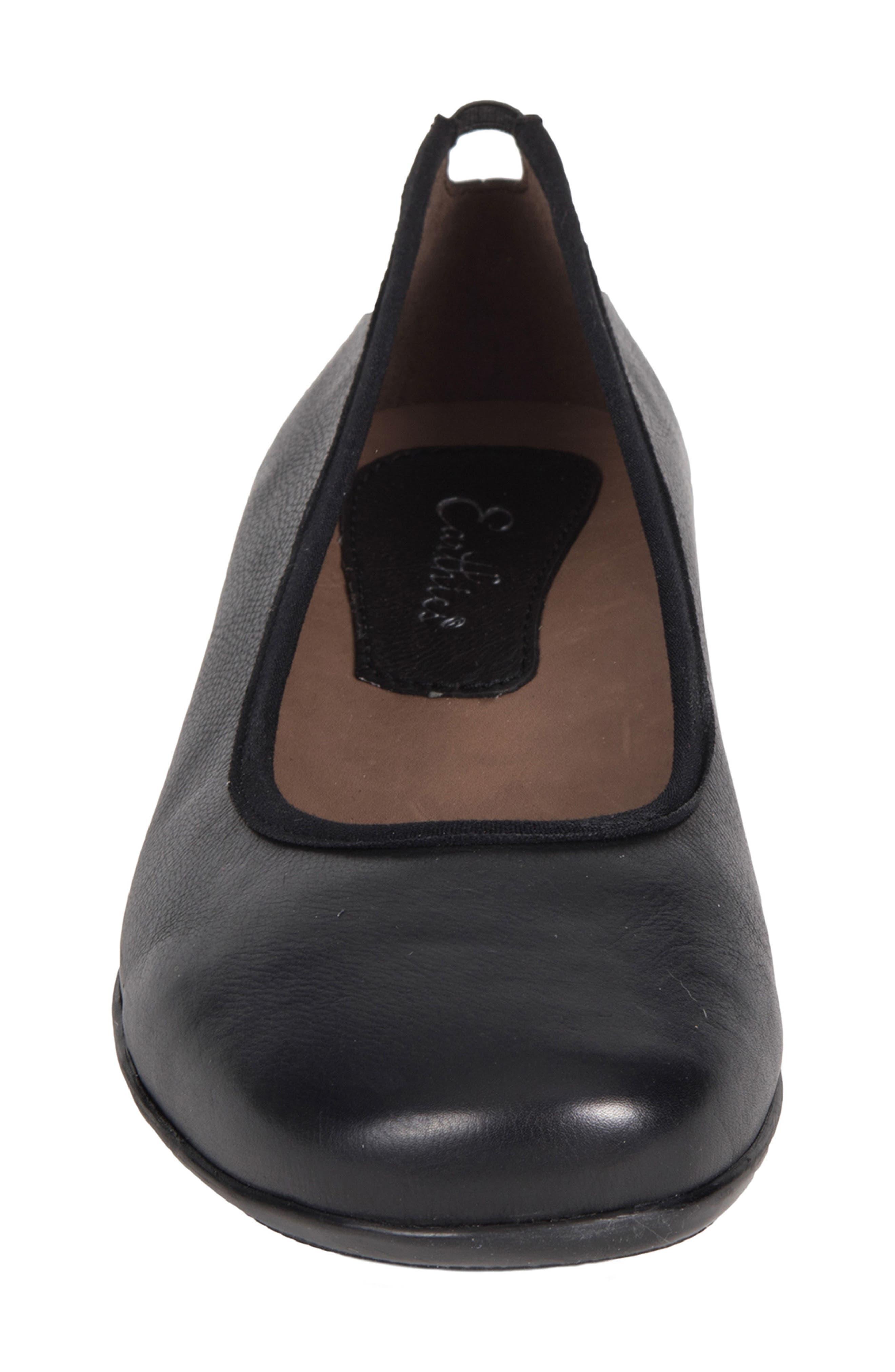 Ennis Flat,                             Alternate thumbnail 4, color,                             Black Leather