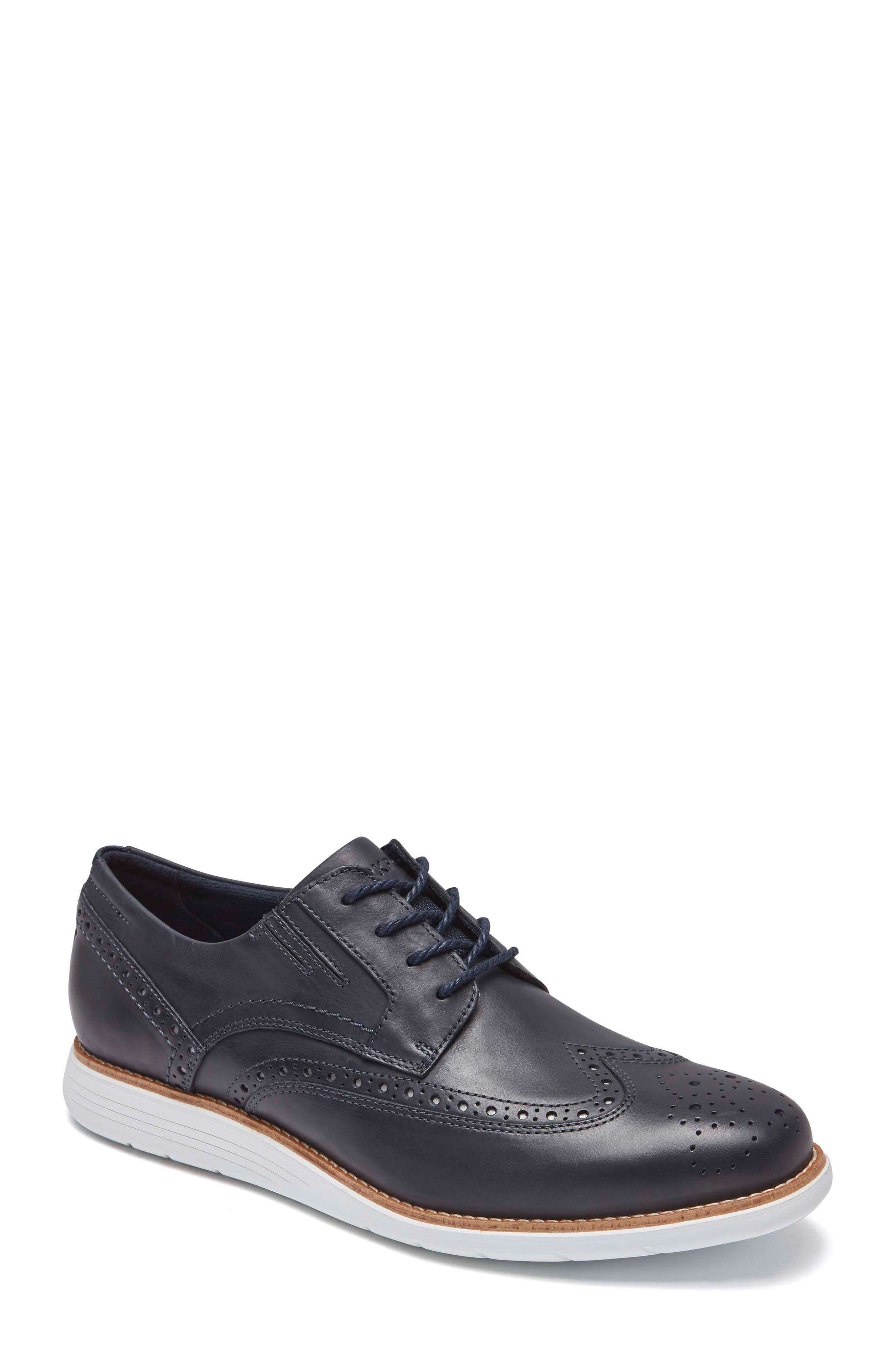 Total Motion Sport Wingtip,                         Main,                         color, New Dress Blue Leather