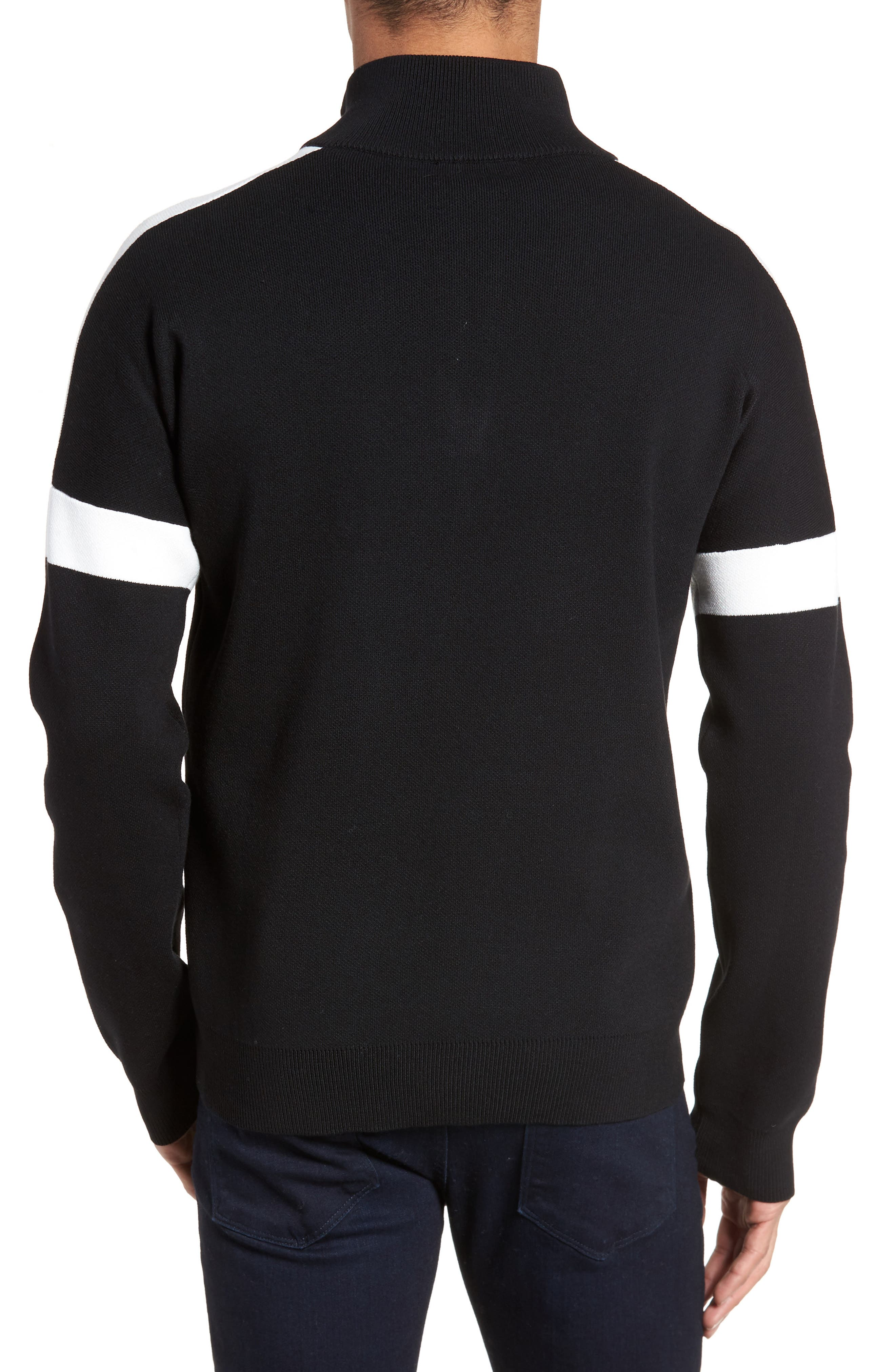 Lakra Regular Fit Half Zip Pullover,                             Alternate thumbnail 2, color,                             Black/Milk/Black