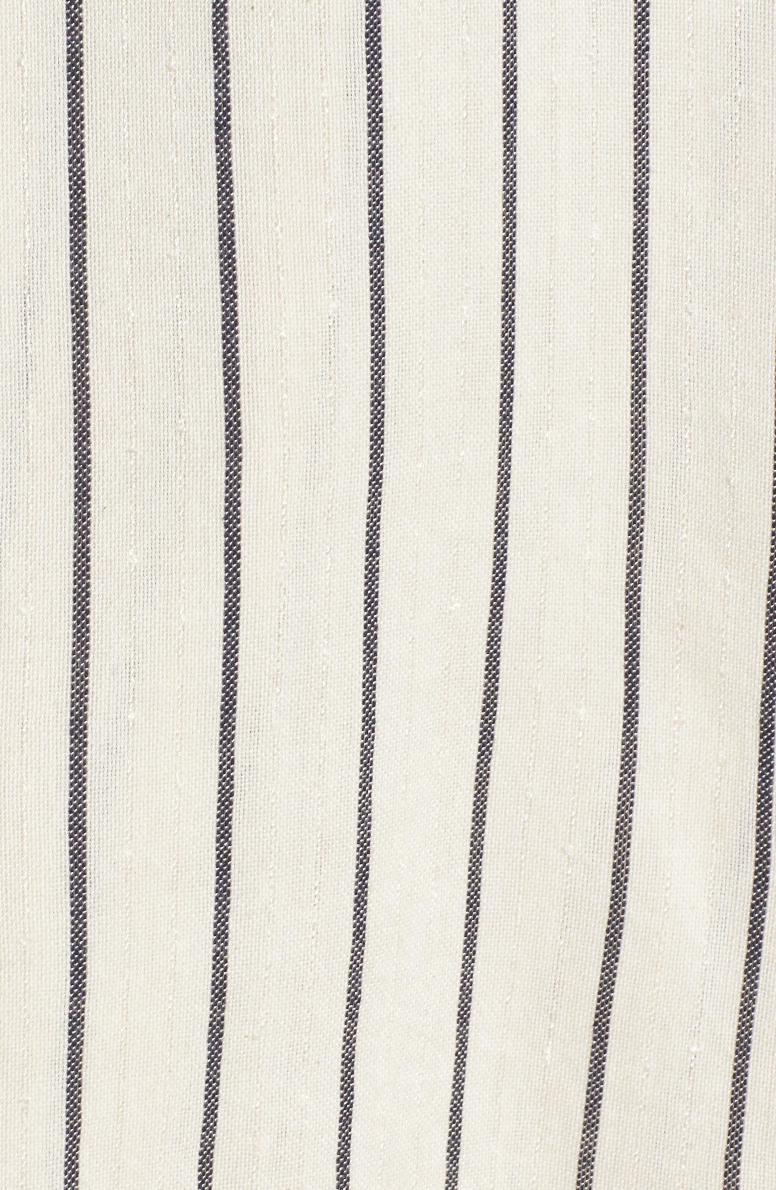 Robe Life Striped Midi Dress,                             Alternate thumbnail 5, color,                             Cool Wip