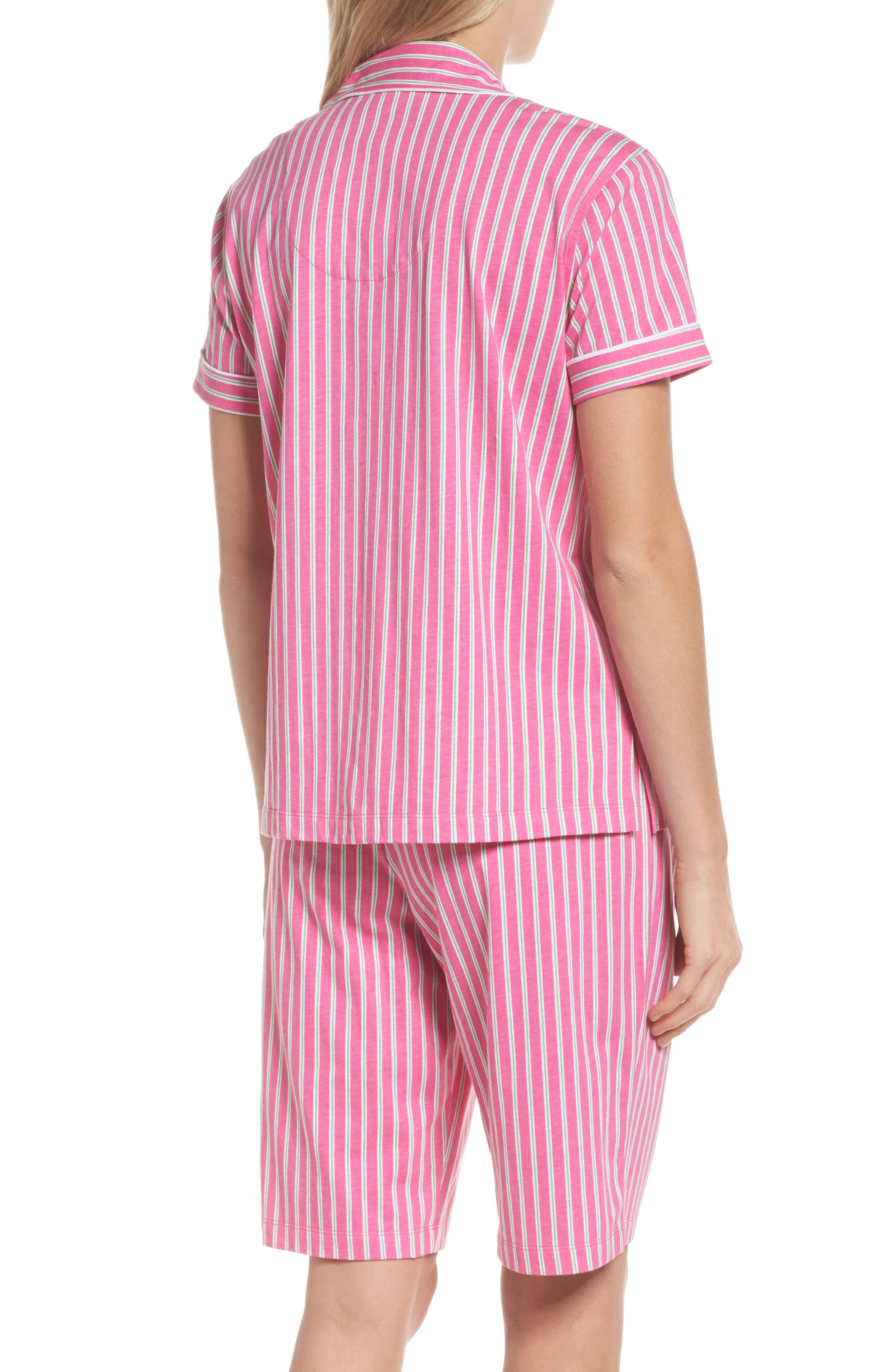 Bermuda Pajamas,                             Alternate thumbnail 2, color,                             Pink Stripe