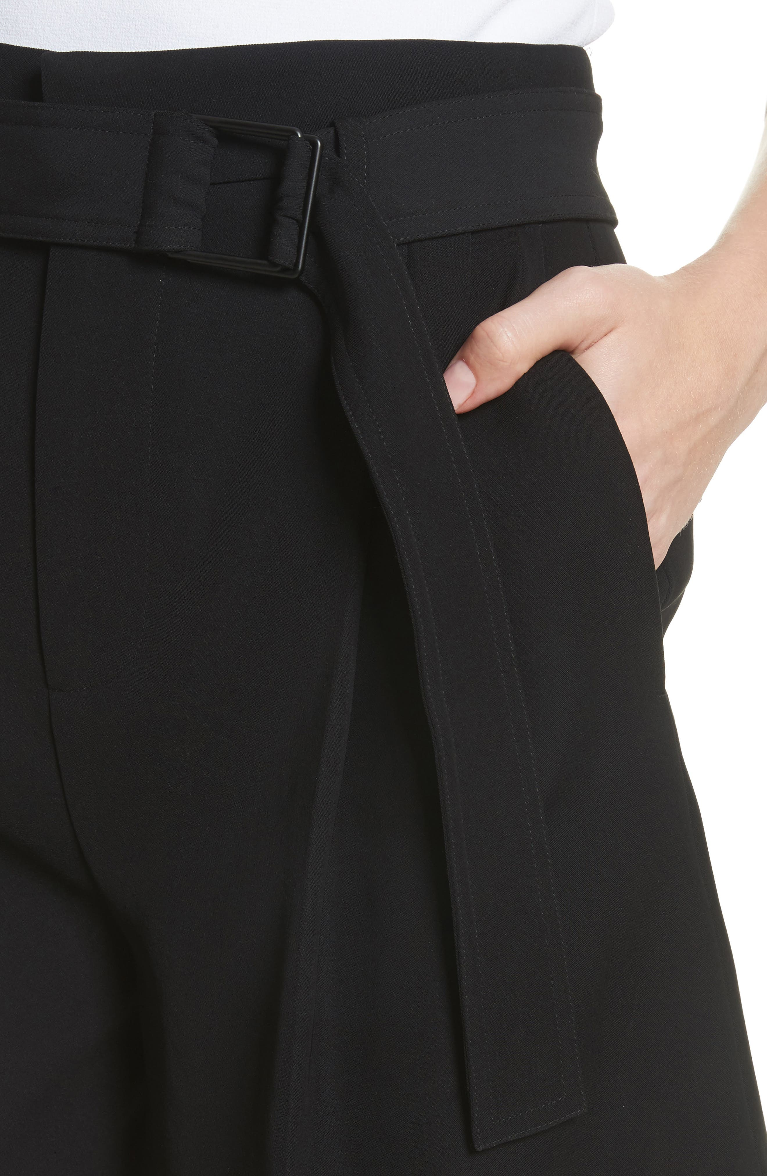 Belted Shorts,                             Alternate thumbnail 4, color,                             Black