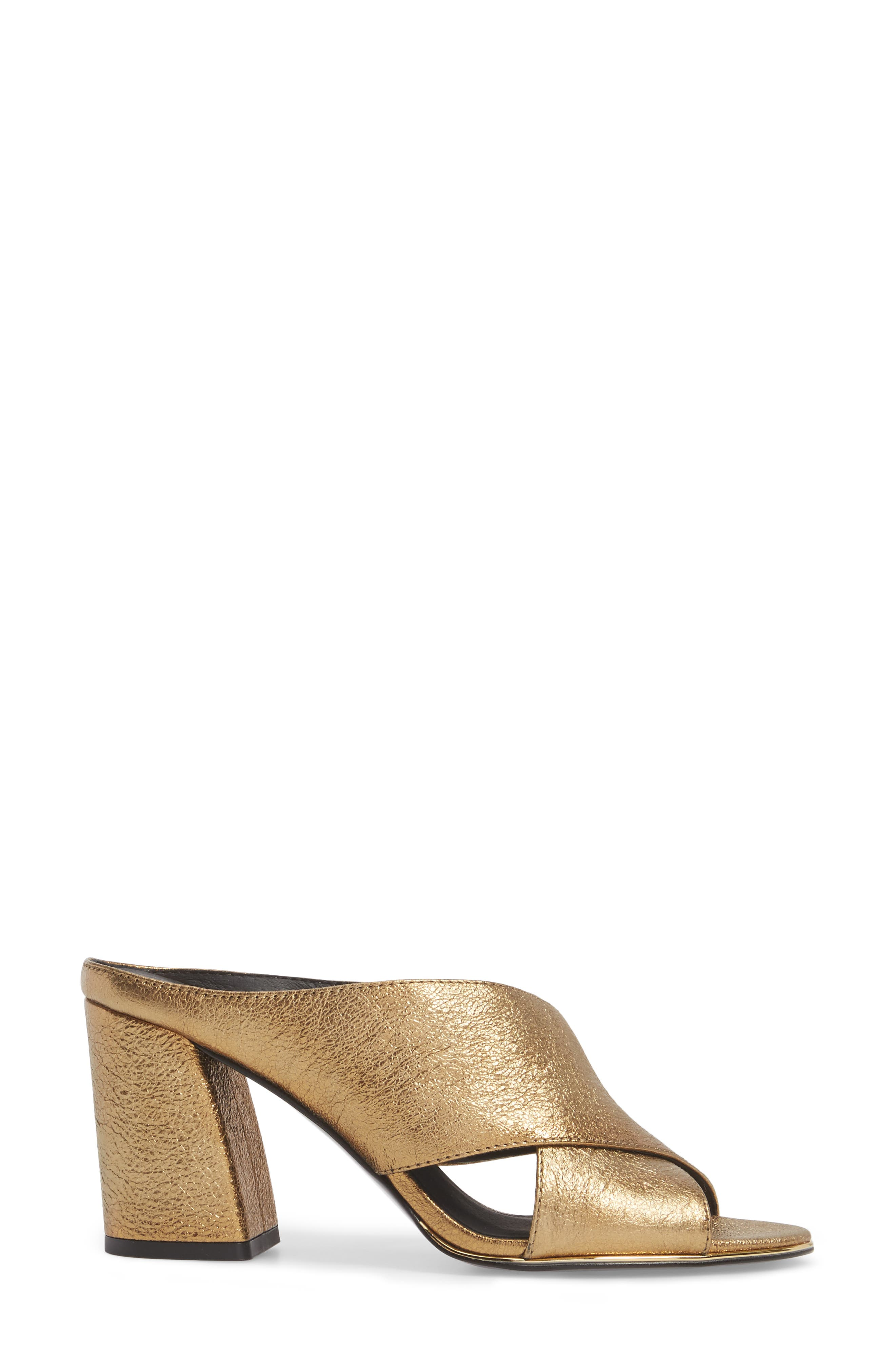 Lyra Sandal,                             Alternate thumbnail 3, color,                             Gold Metallic Leather