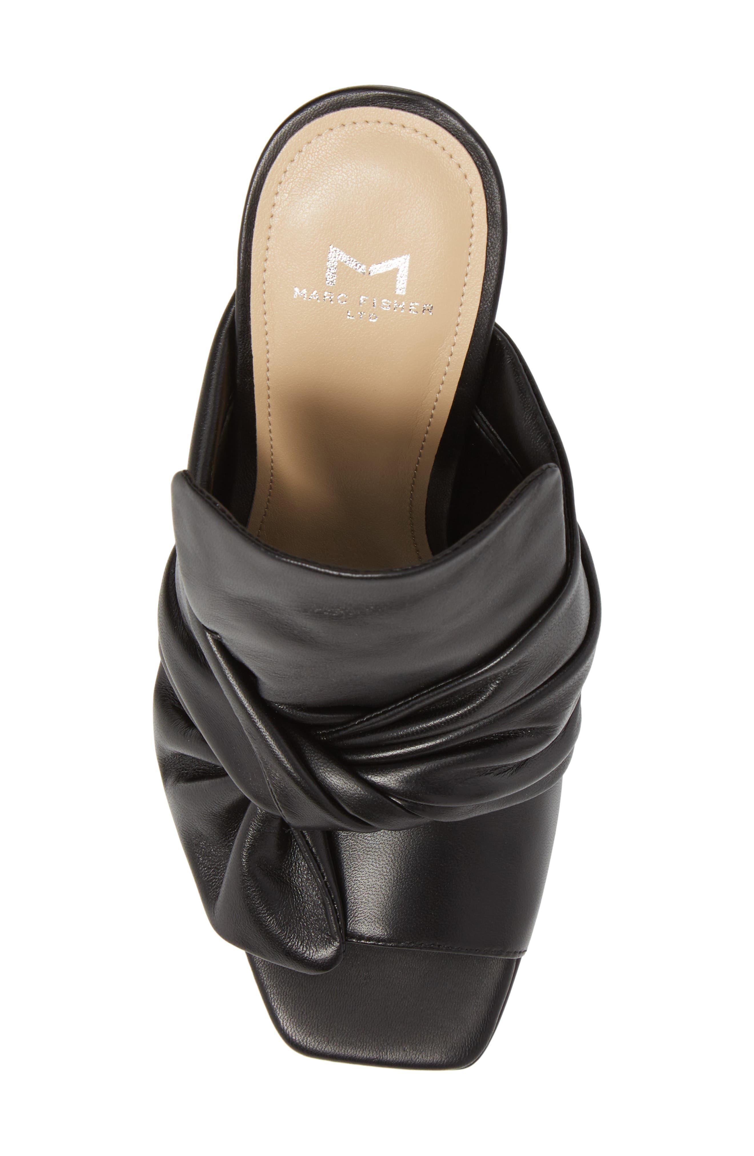 Hogan Sandal,                             Alternate thumbnail 5, color,                             Black Leather