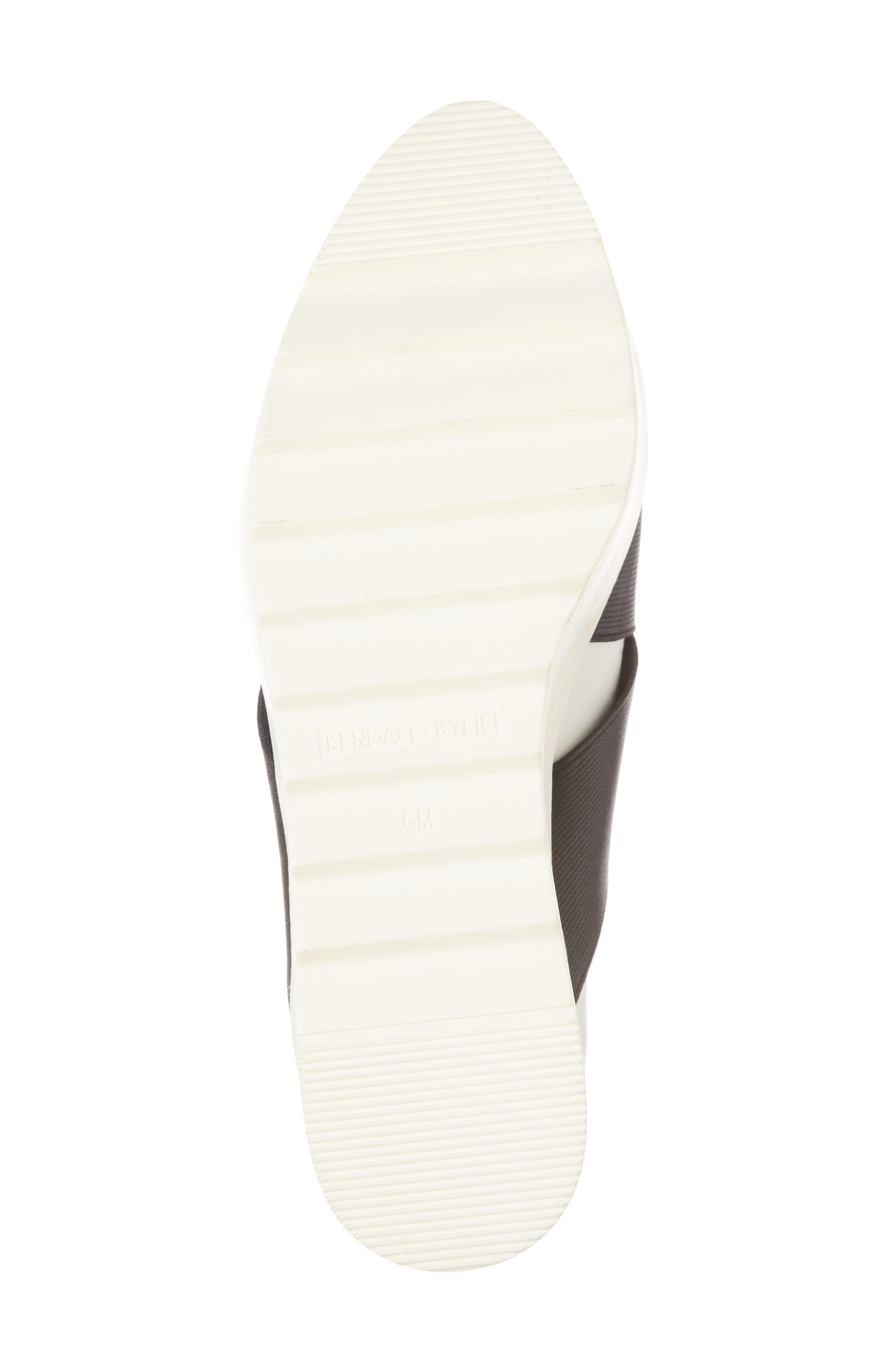 Tasha Platform Slip-On Sneaker,                             Alternate thumbnail 6, color,                             White Leather