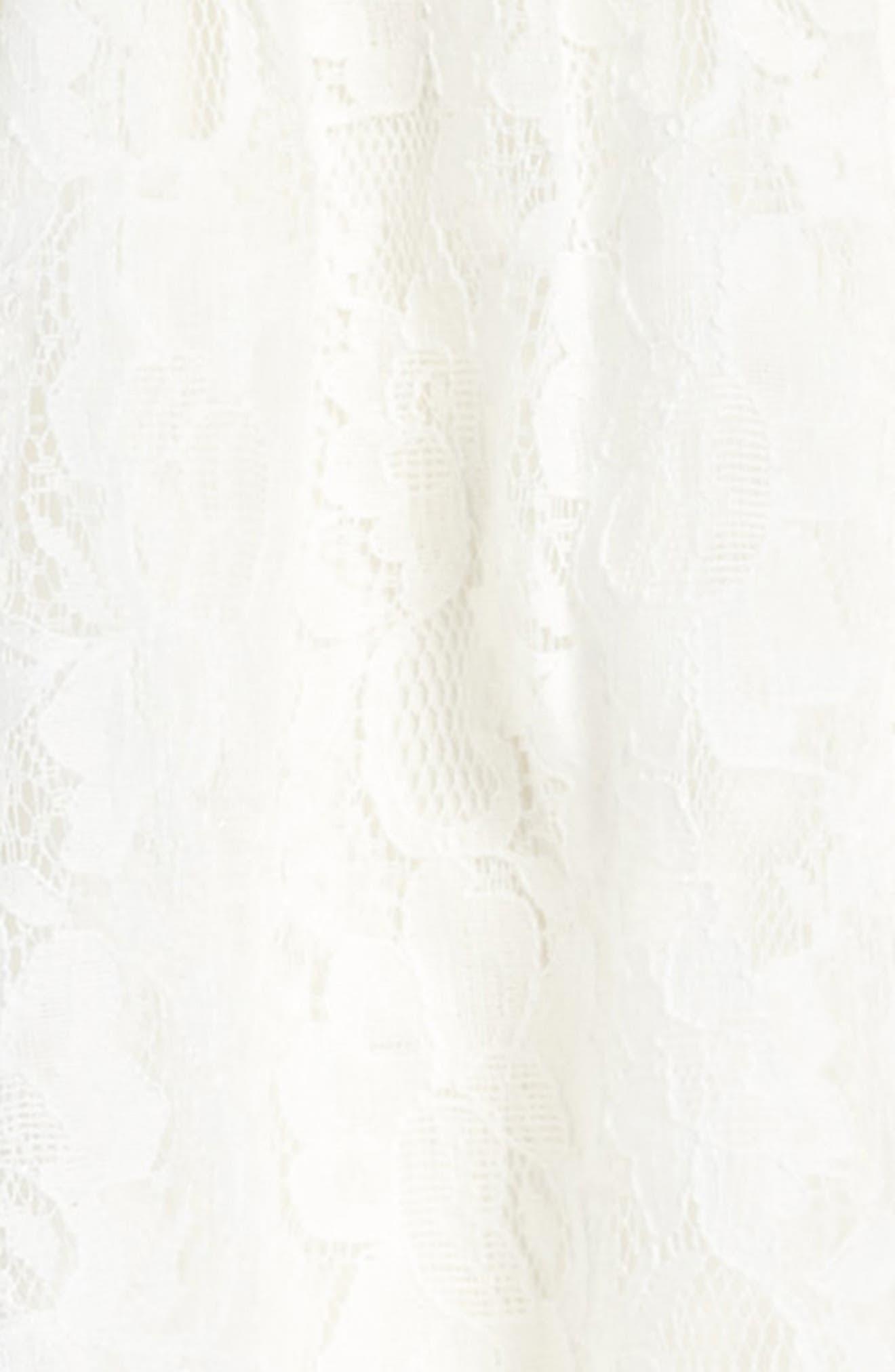 Lyla Lace Dress,                             Alternate thumbnail 3, color,                             Ivory