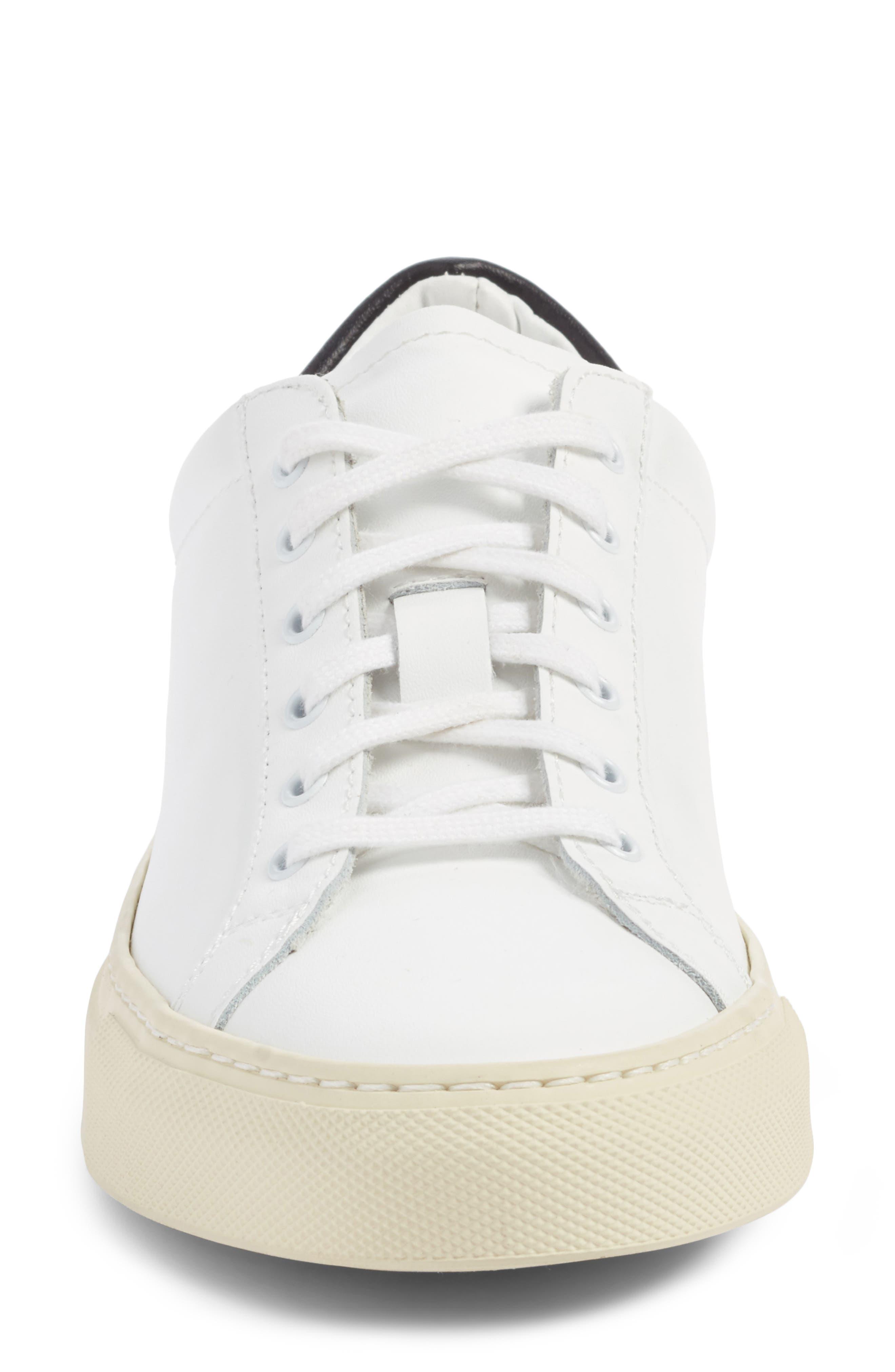Achilles Low Top Sneaker,                             Alternate thumbnail 4, color,                             White/ Black