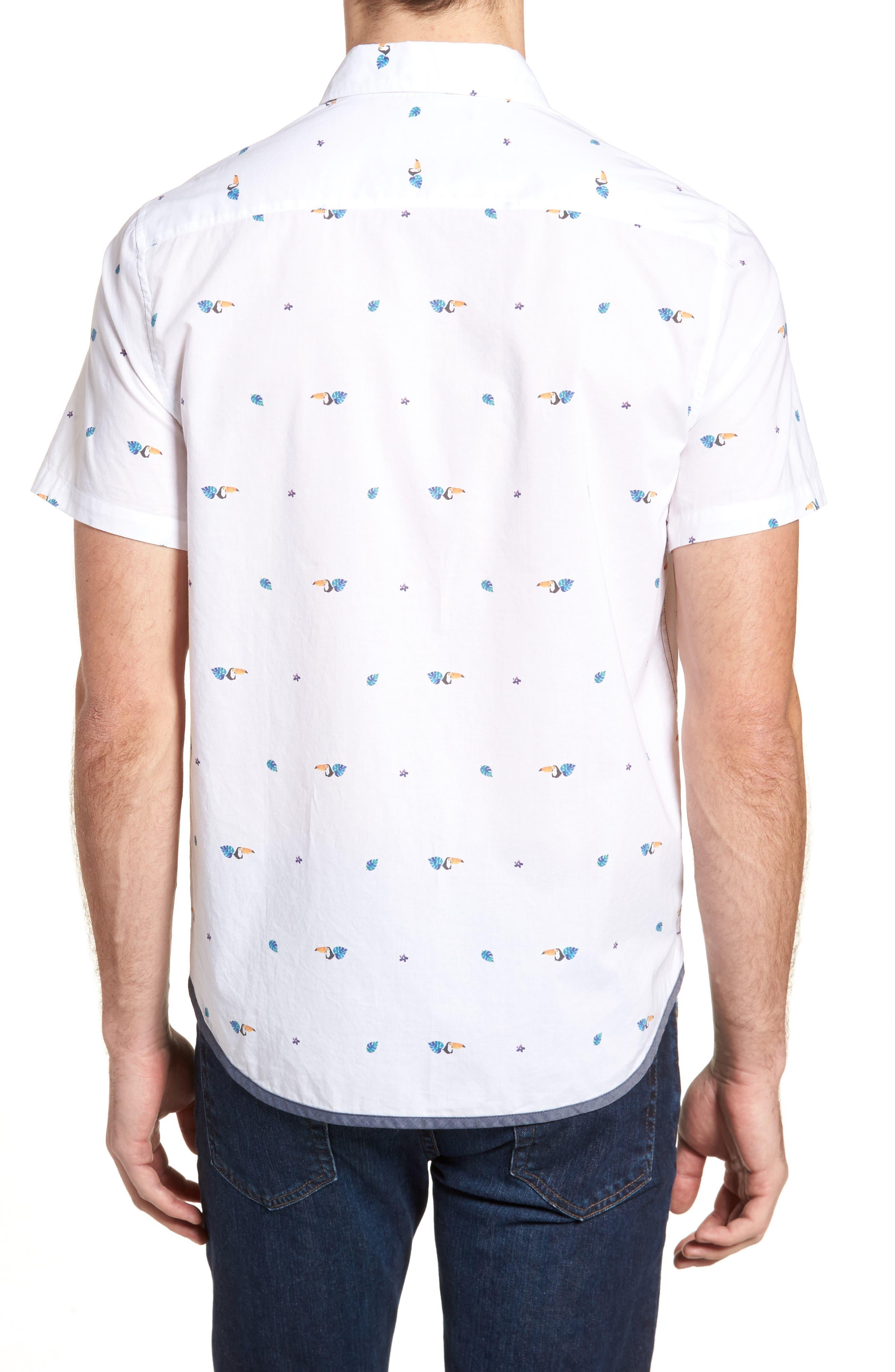 Toucan Print Sport Shirt,                             Alternate thumbnail 2, color,                             Toucan Print