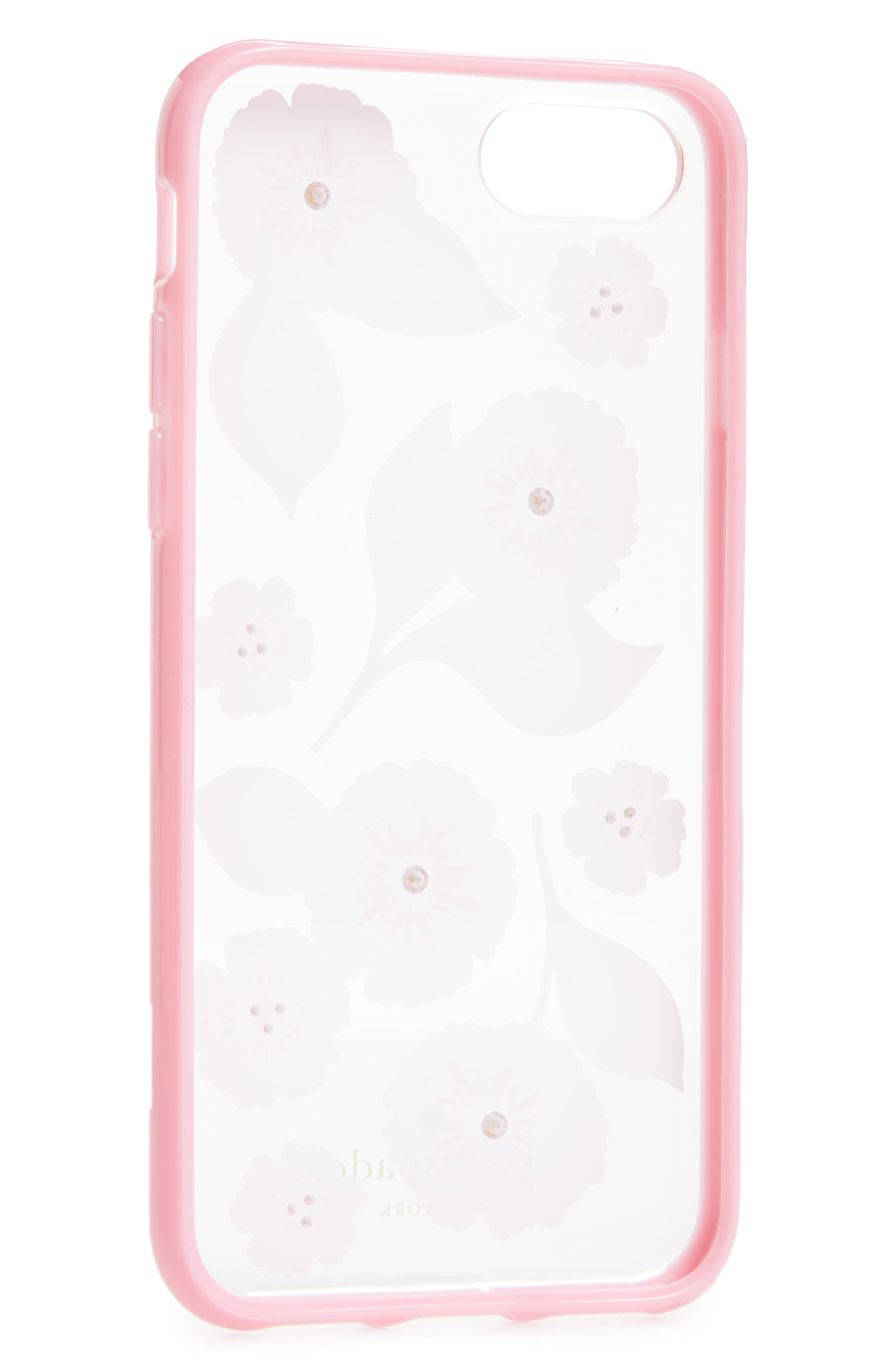 crystal embellished iPhone 6/6s/7/8 & 6/6s/7/8 Plus case,                             Alternate thumbnail 2, color,                             Clear Multi