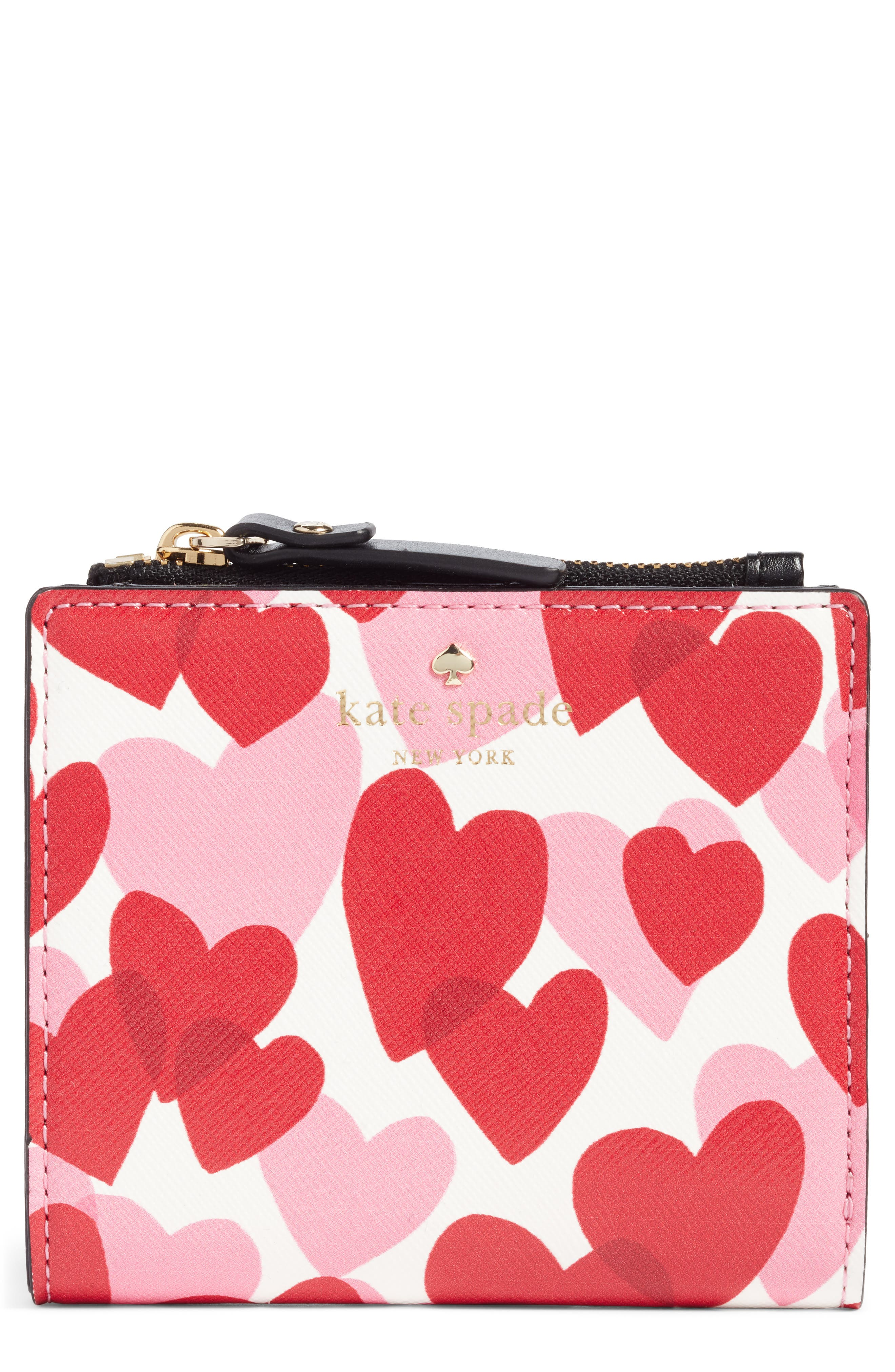 yours truly adalyn faux leather wallet,                             Main thumbnail 1, color,                             Heart Party