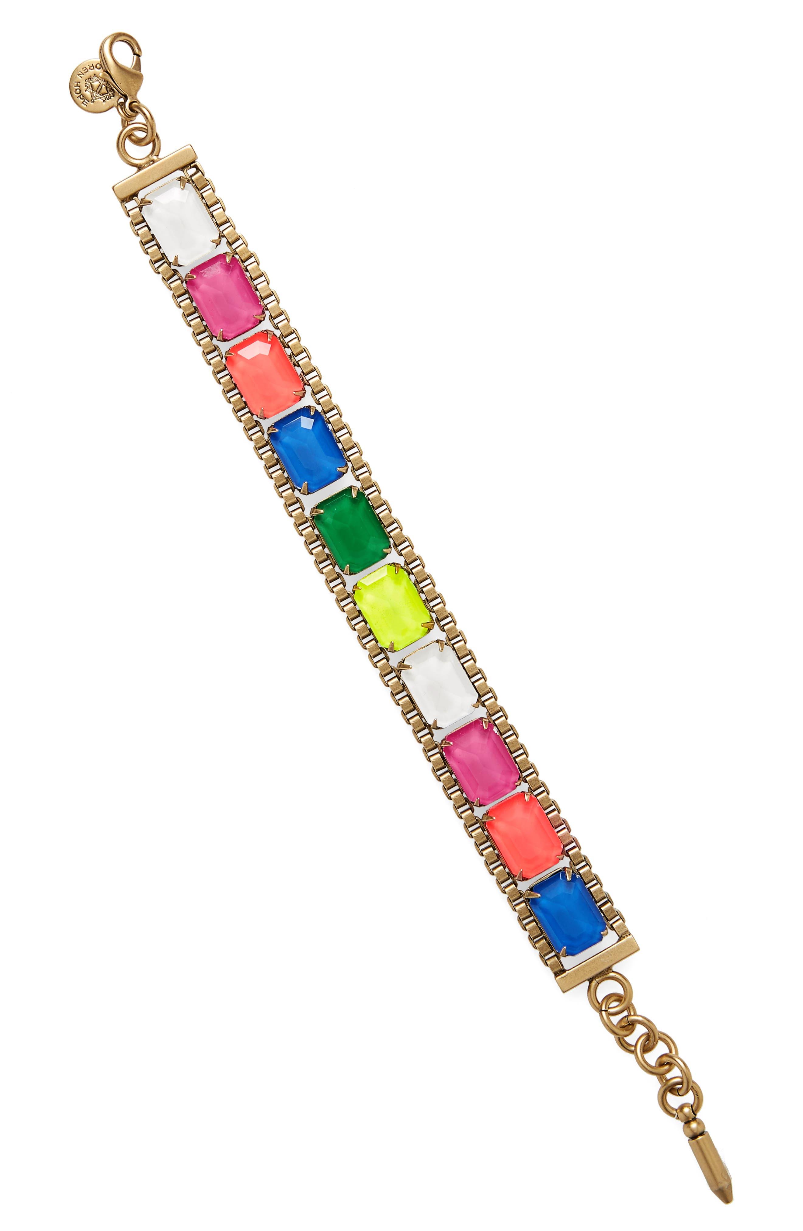 Scarlet Mixed Jewel Bracelet,                         Main,                         color, Pink Multi